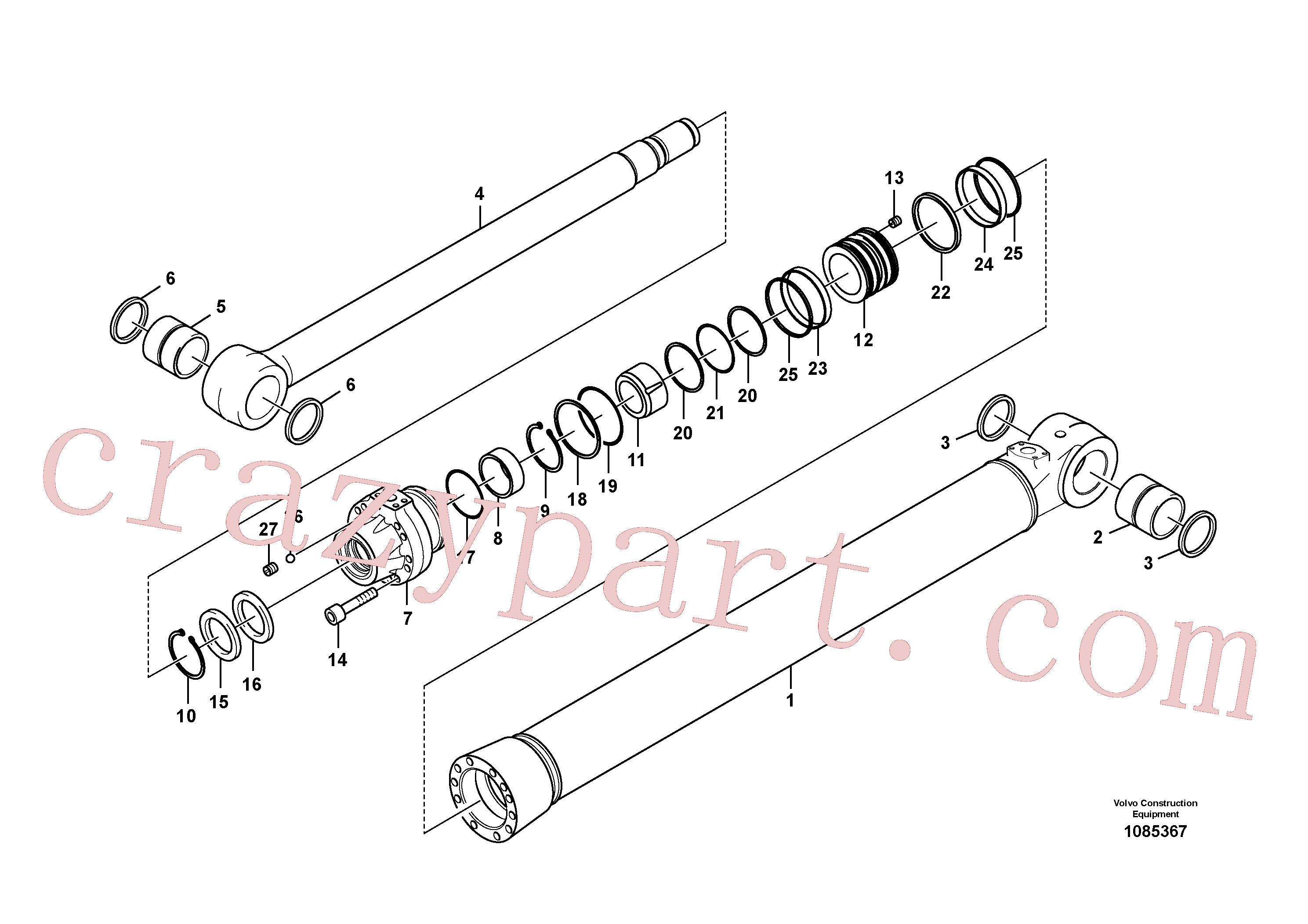 VOE14883880 for Volvo Bucket cylinder(1085367 assembly)