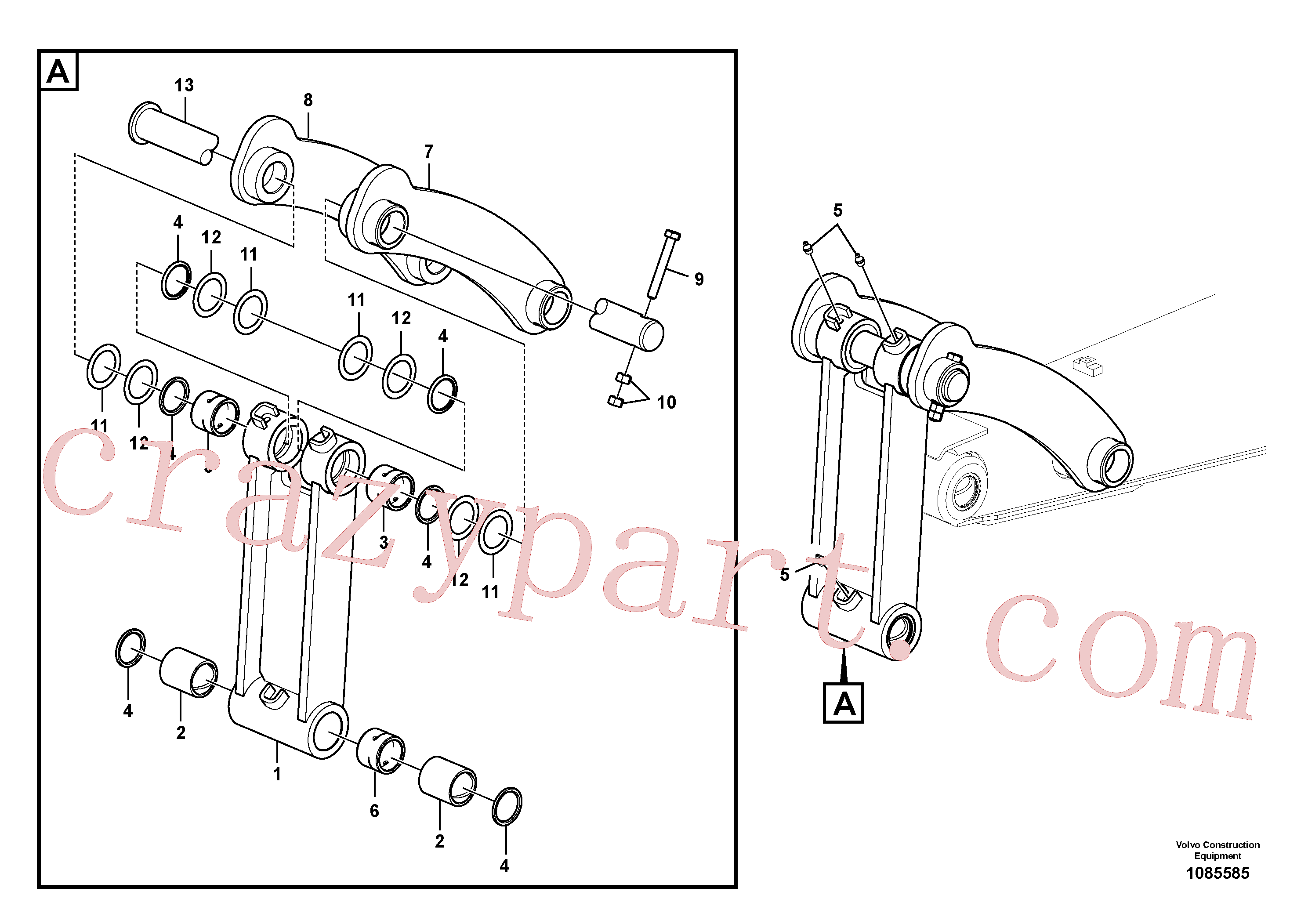 VOE14504211 for Volvo Links to connecting rod(1085585 assembly)