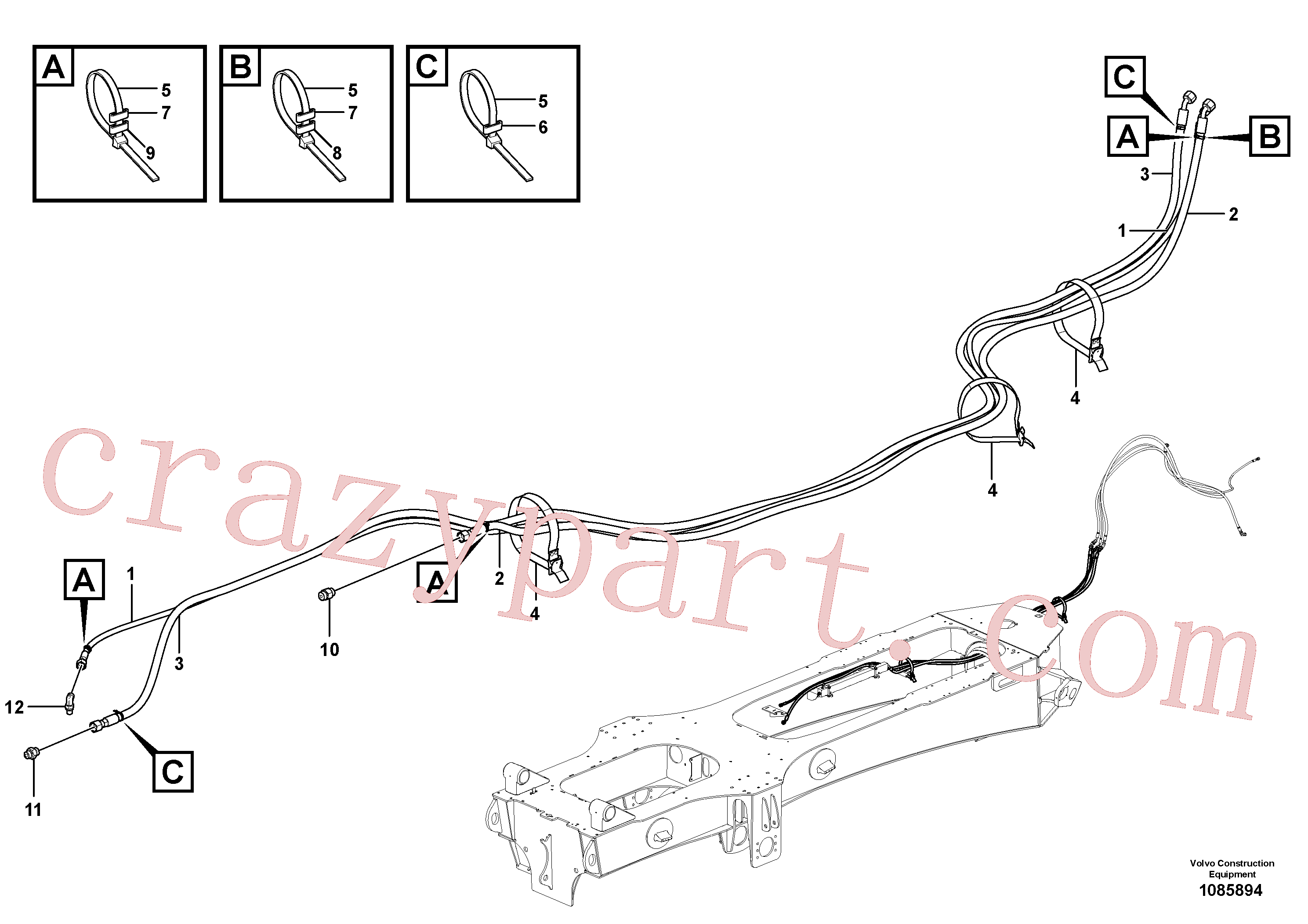 VOE15135769 for Volvo Brake lines(1085894 assembly)
