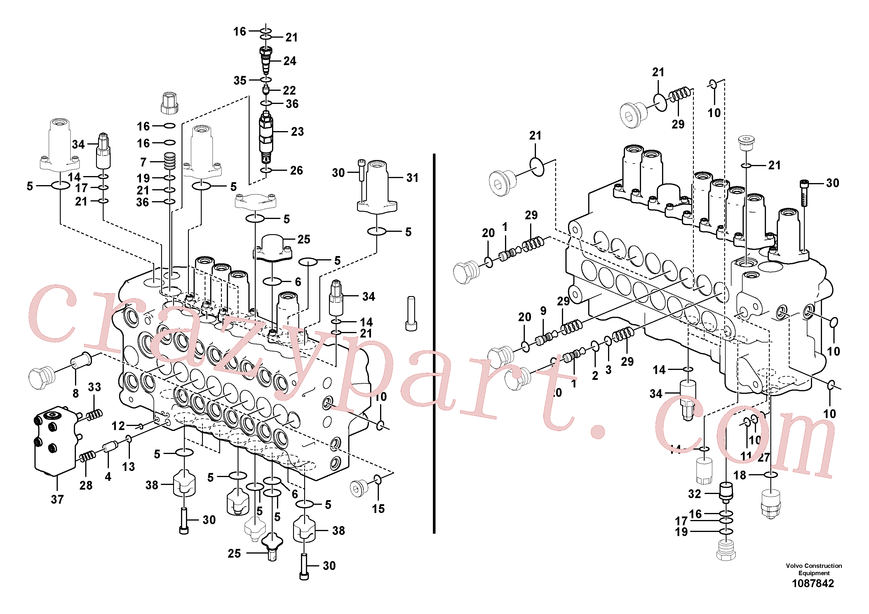 VOE14526982 for Volvo Main control valve(1087842 assembly)