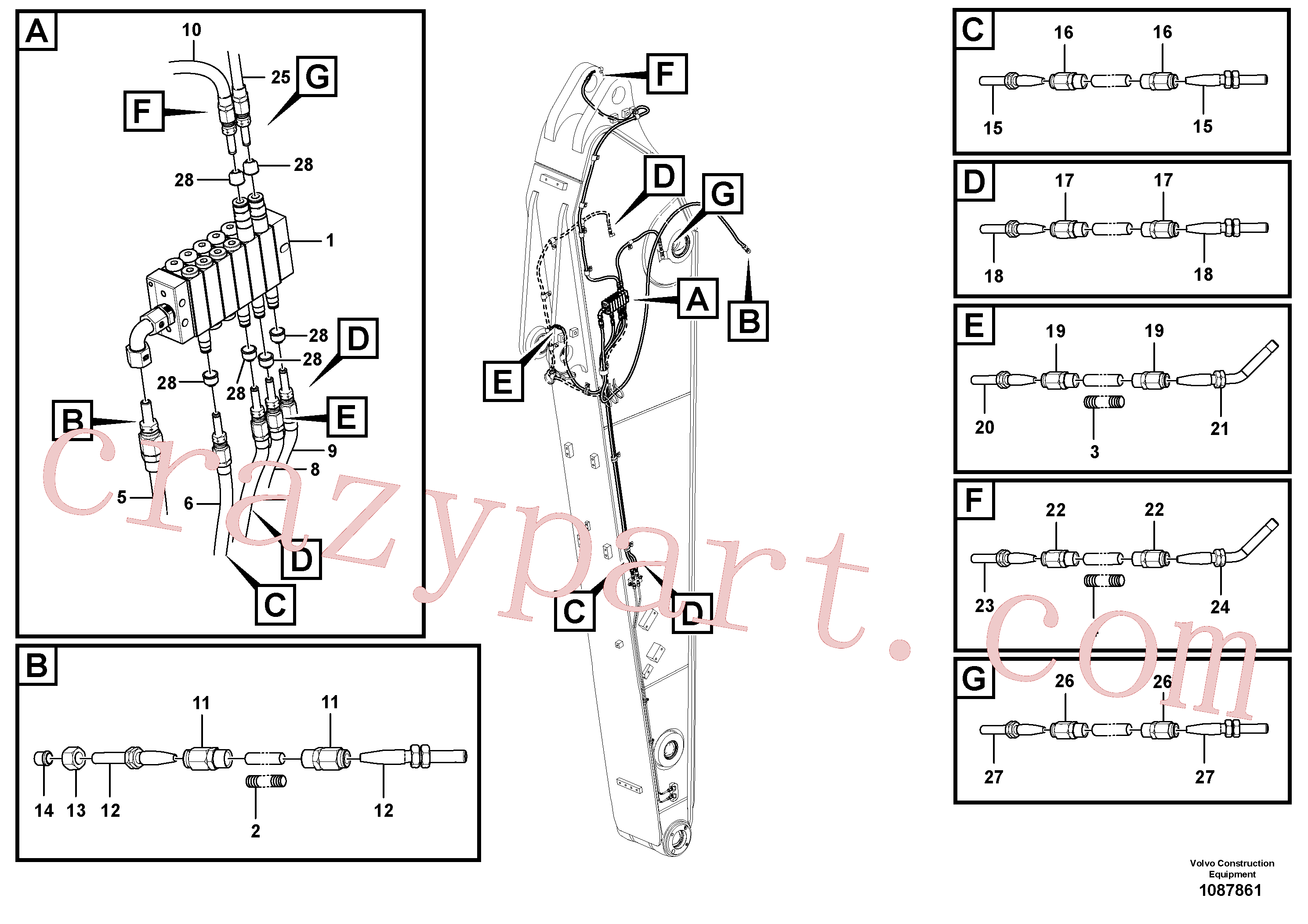 VOE14389578 for Volvo Distributor set, arm(1087861 assembly)