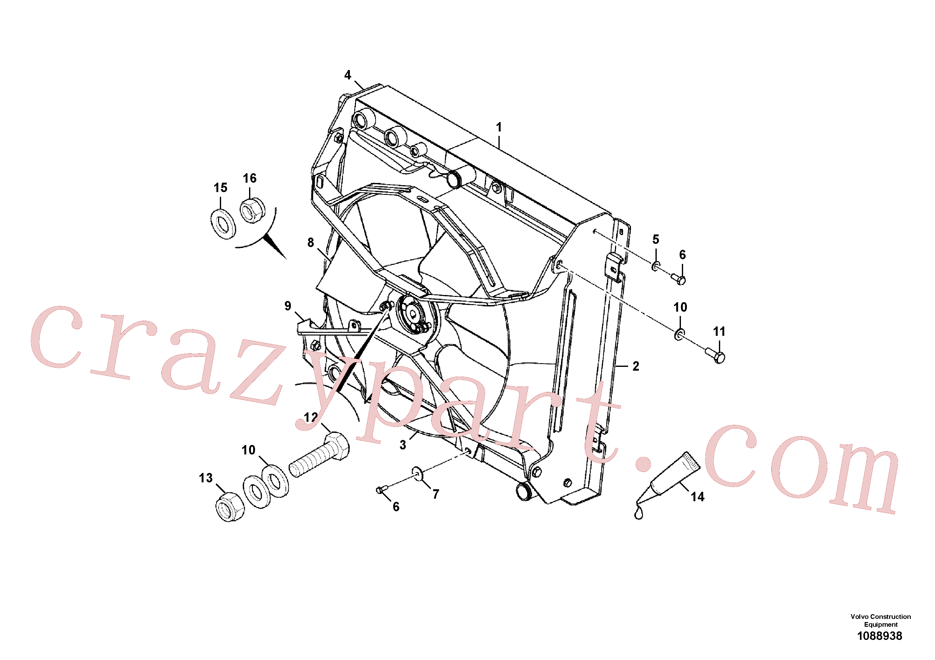 VOE16212125 for Volvo Cooling pack installation(1088938 assembly)