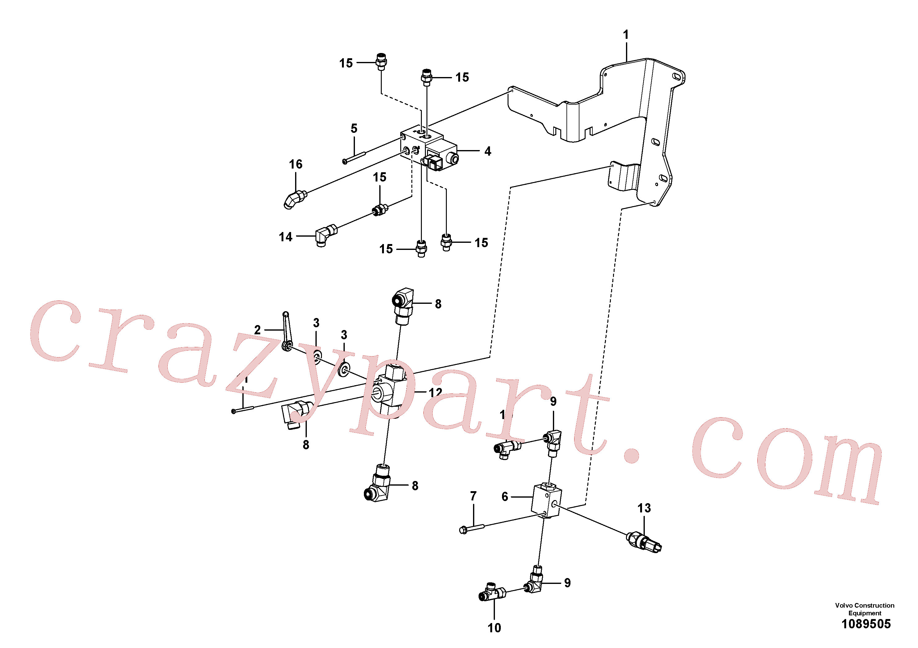 VOE11713204 for Volvo Hydraulic valve(1089505 assembly)