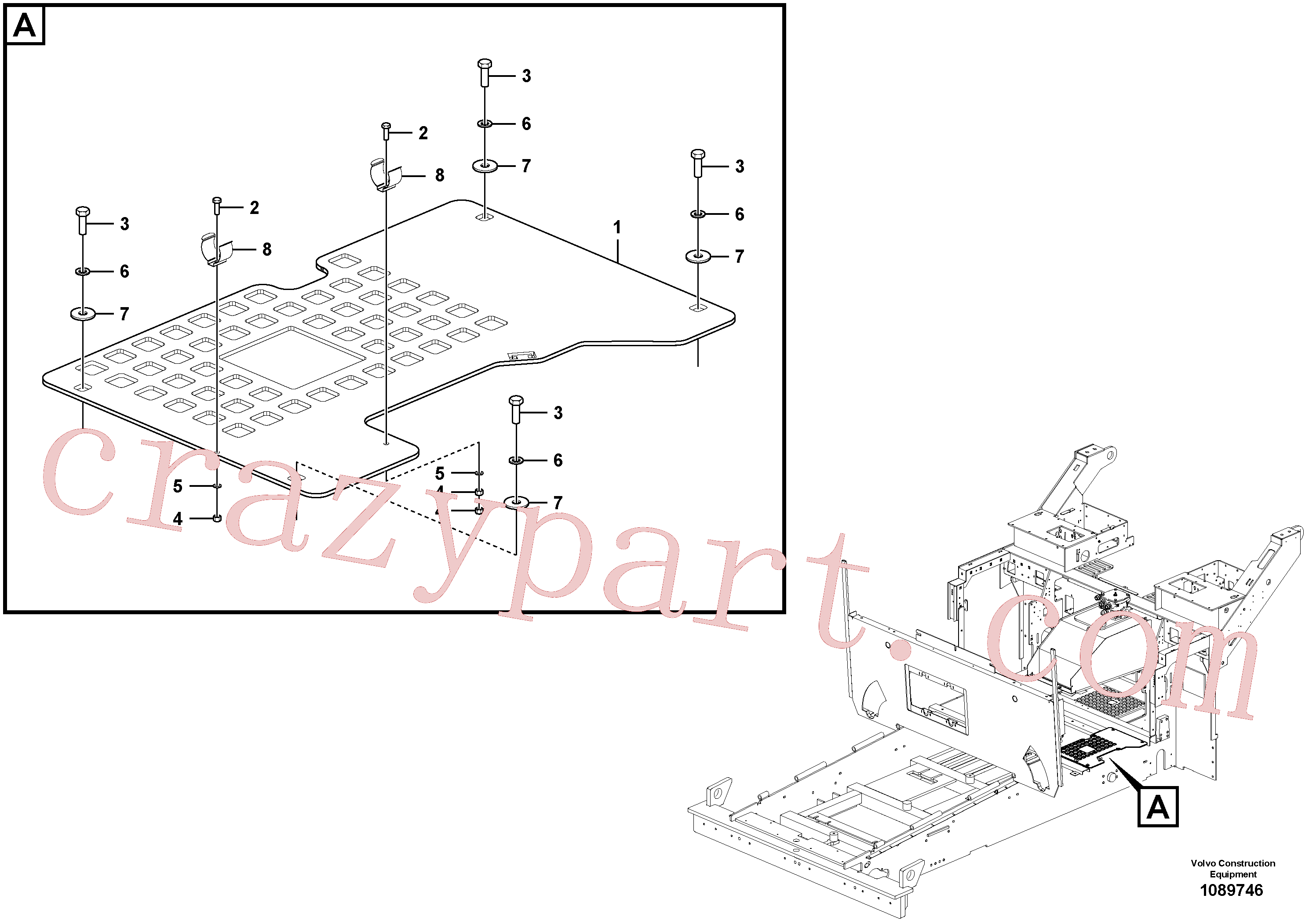 VOE997422 for Volvo Support plates and braces(1089746 assembly)