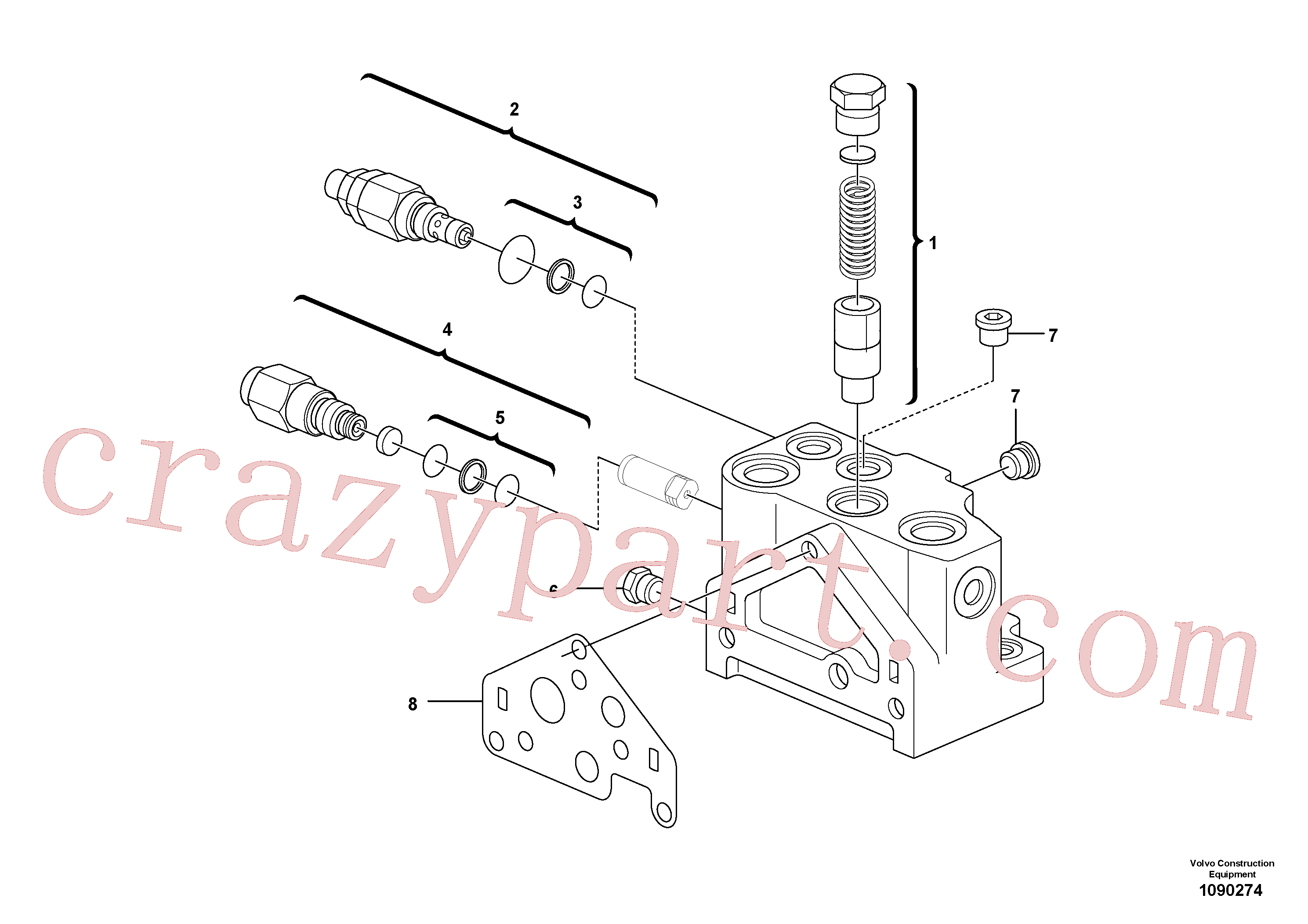 VOE17471353 for Volvo Valve section(1090274 assembly)