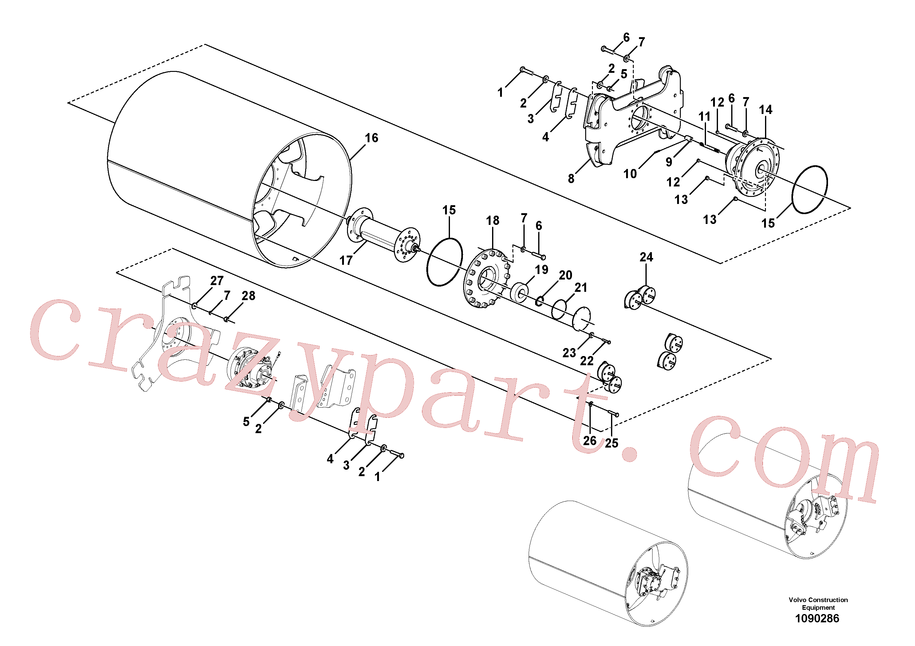 RM96734298 for Volvo Drum Assembly(1090286 assembly)