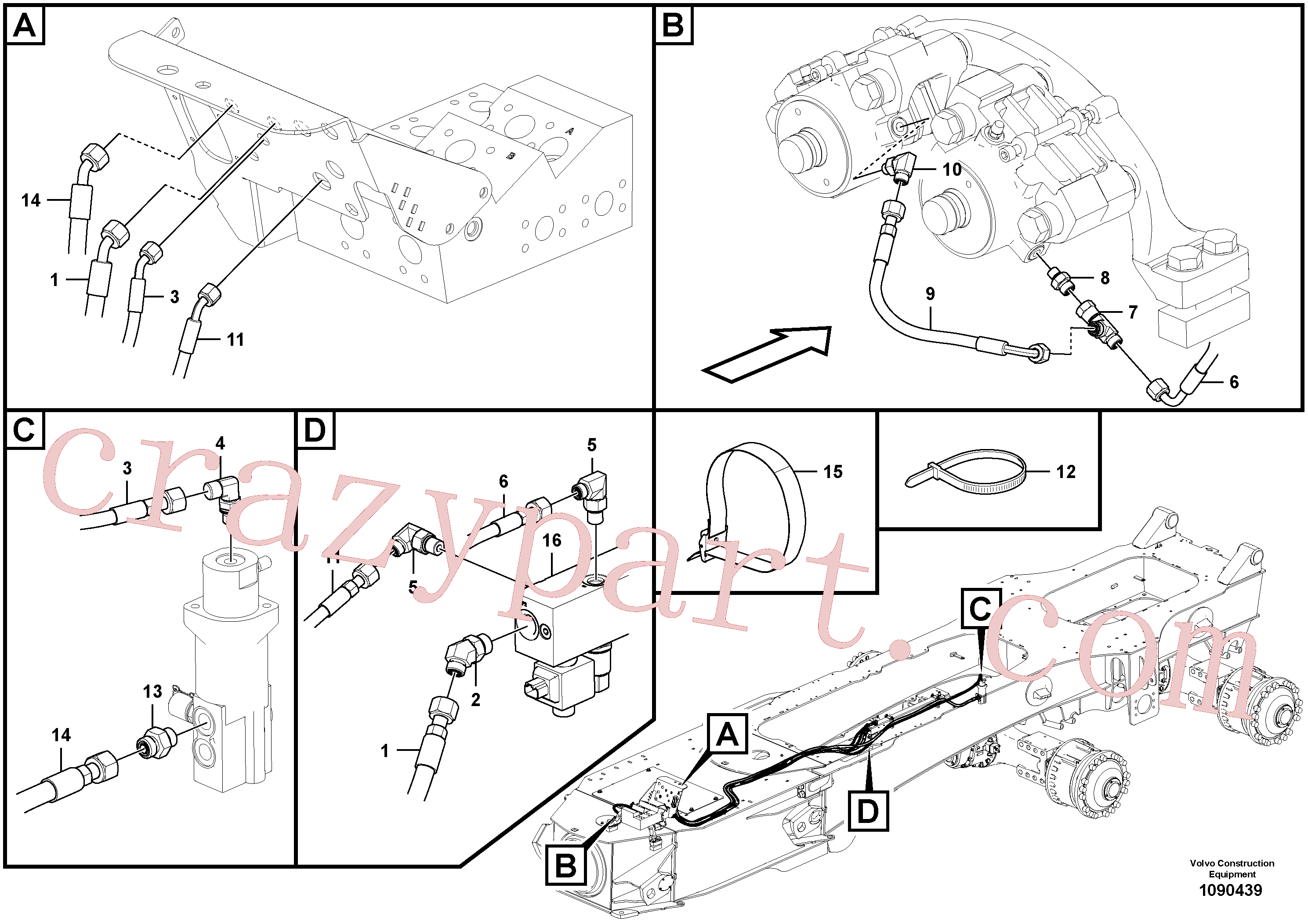 VOE15135769 for Volvo Brake lines, trailer(1090439 assembly)
