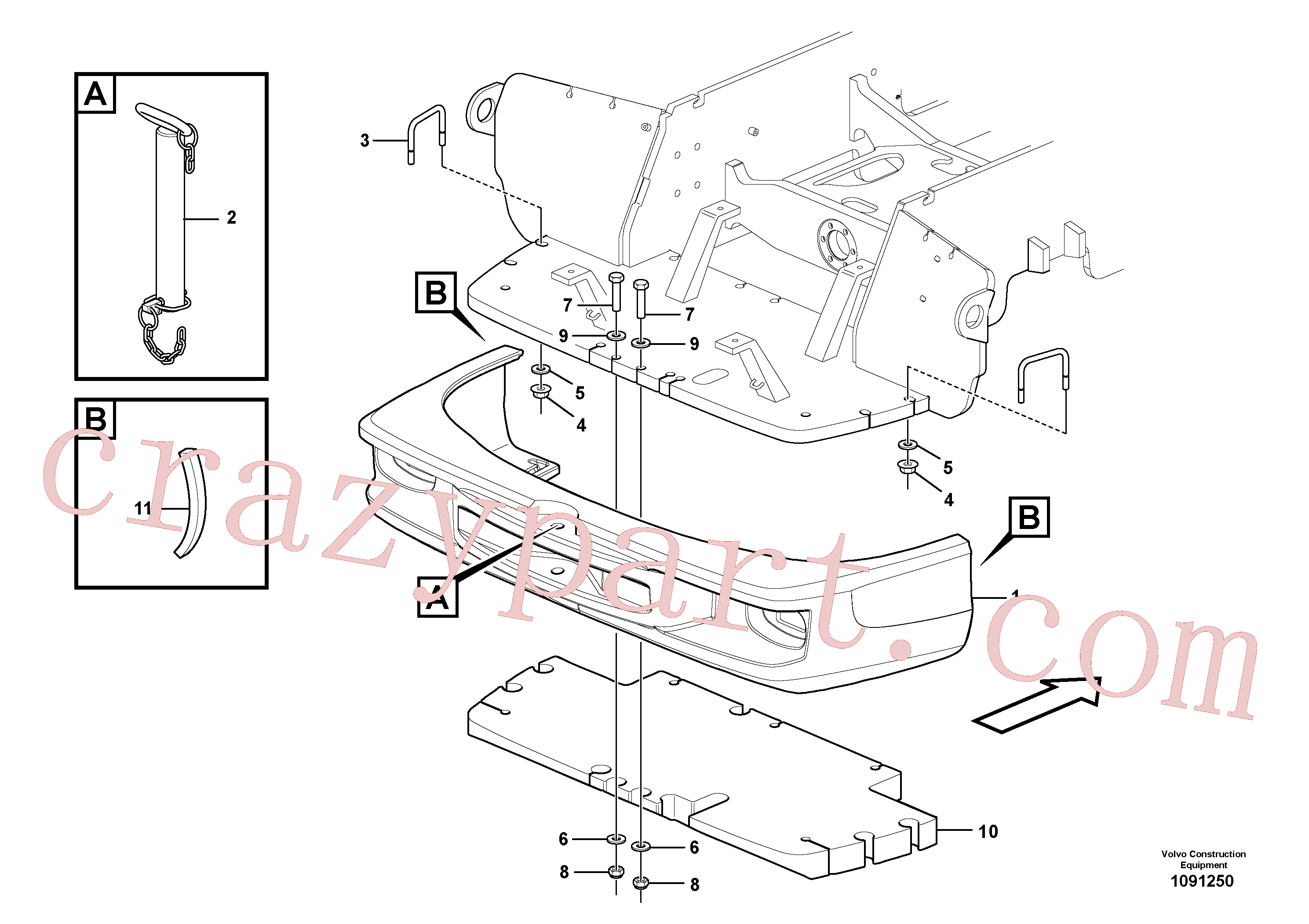 ZM4334202 for Volvo Counterweights(1091250 assembly)
