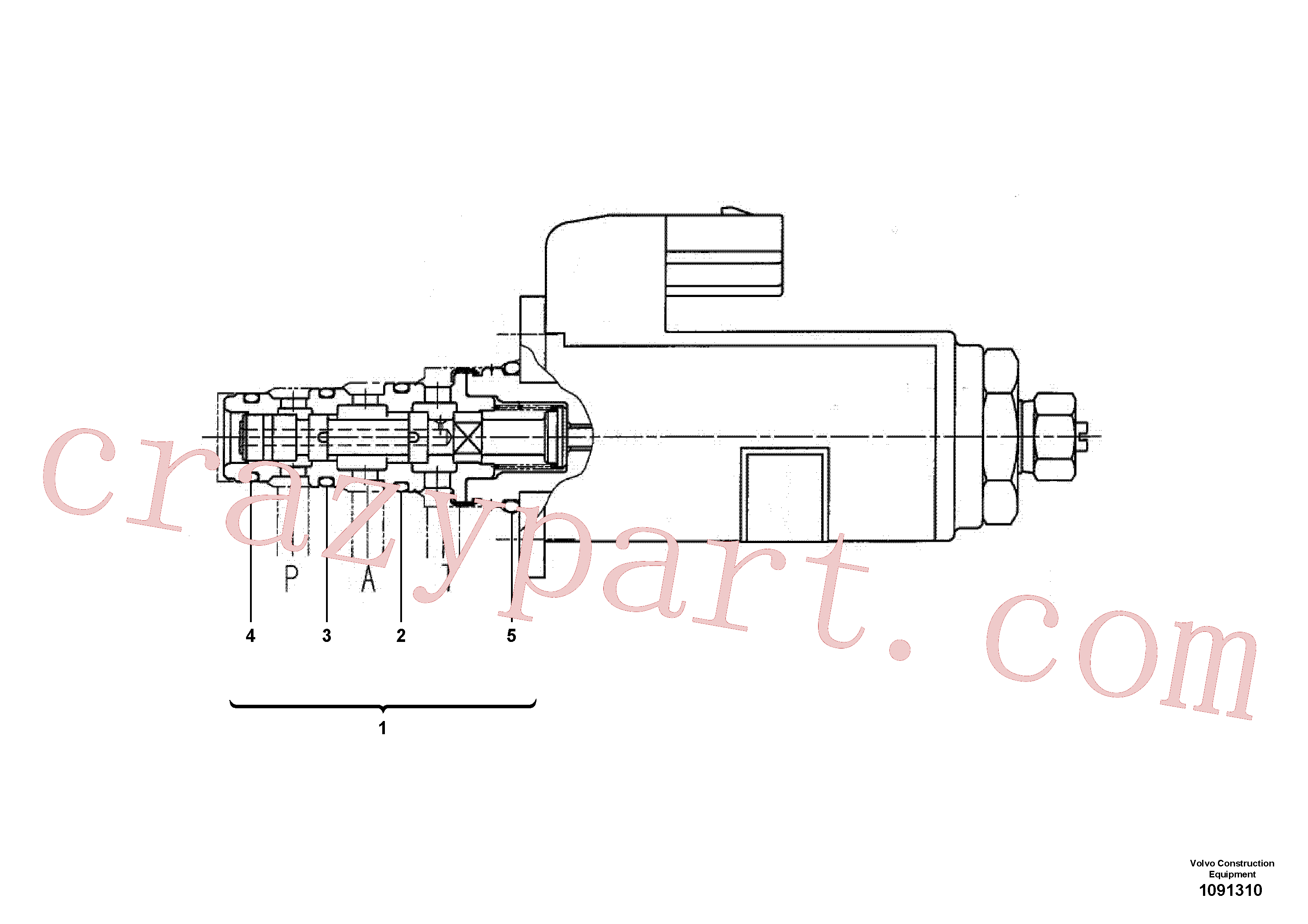 VOE990546 for Volvo Proportional valve(1091310 assembly)
