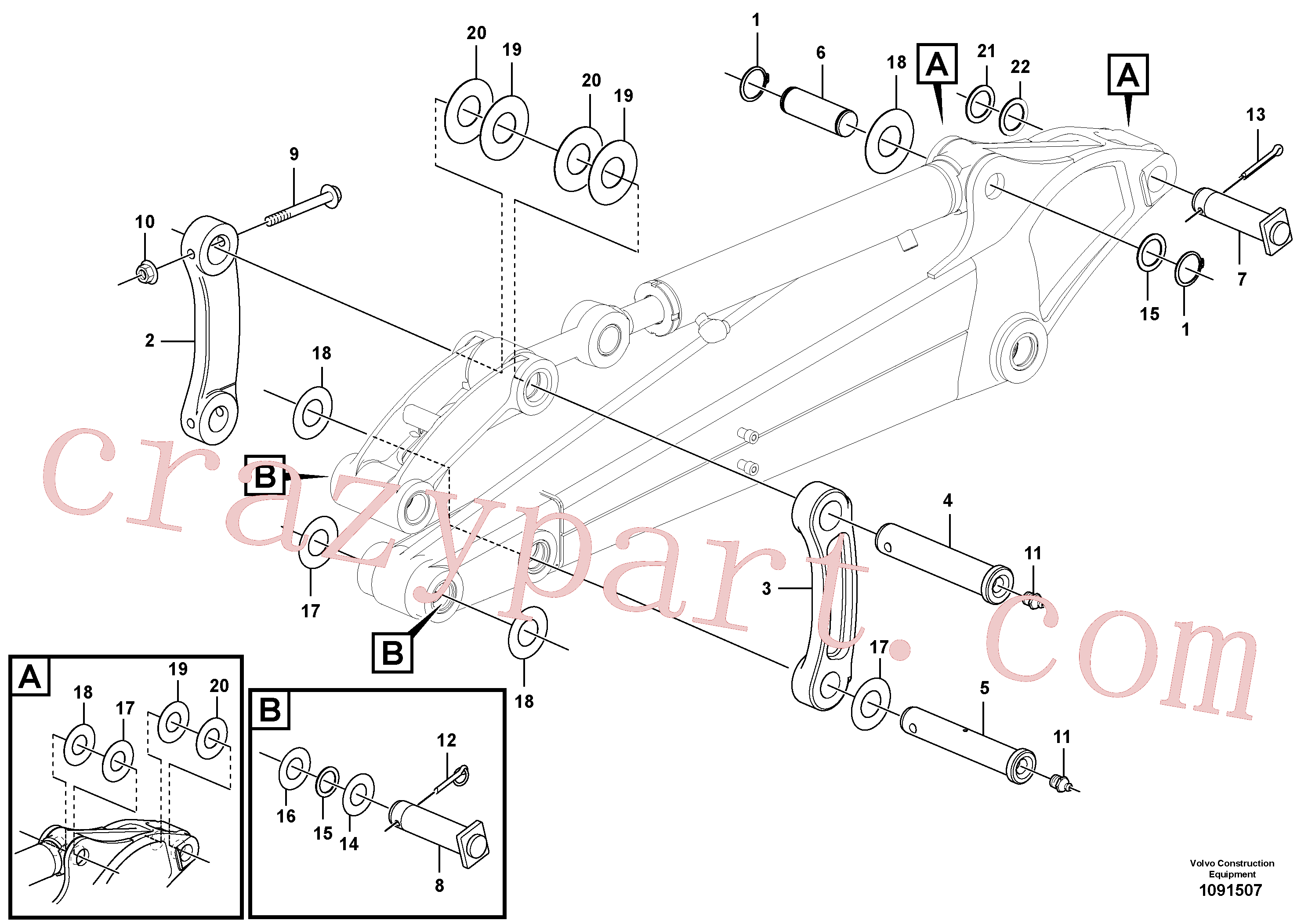 VOE11802237 for Volvo Links to connecting rod(1091507 assembly)