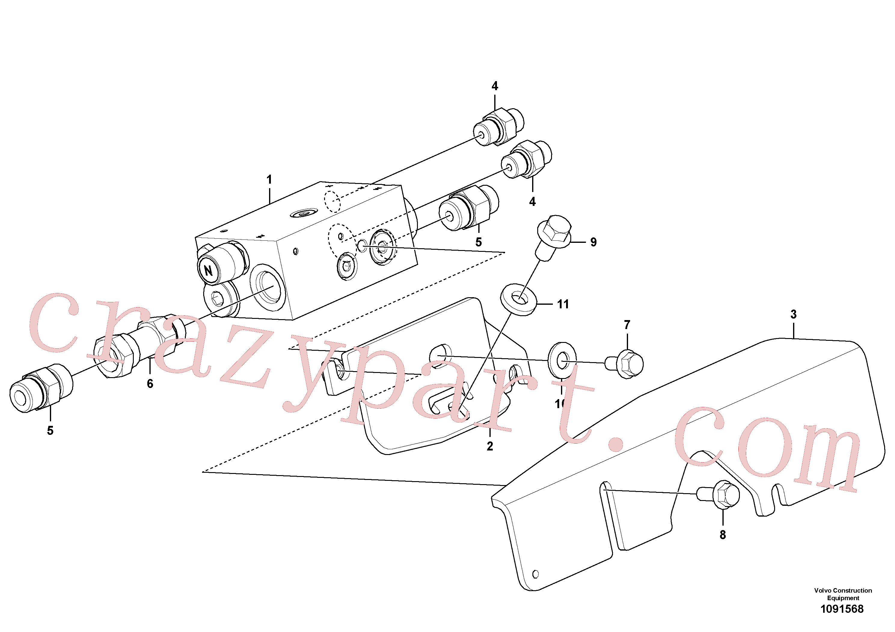VOE15624000 for Volvo Safety valve ( dipper arm cylinder )(1091568 assembly)