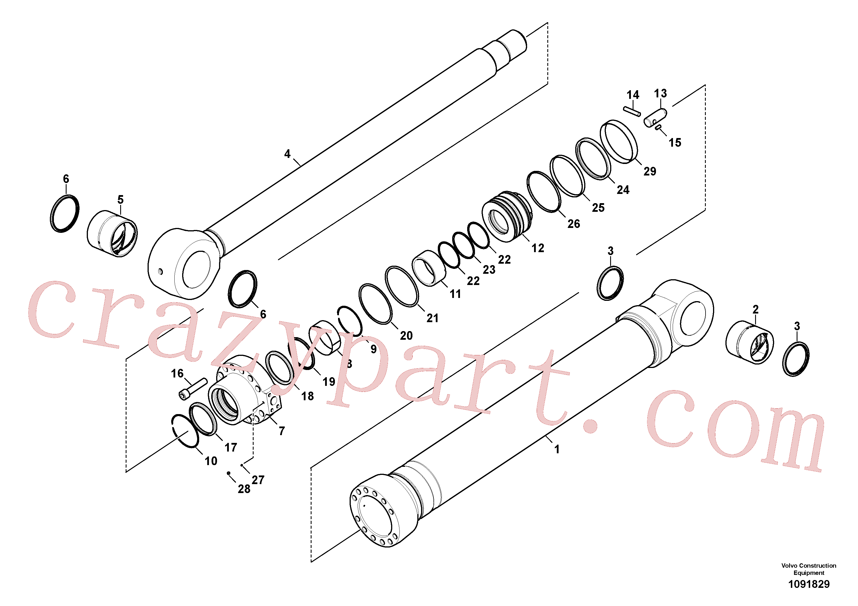 VOE14884992 for Volvo Bucket cylinder(1091829 assembly)