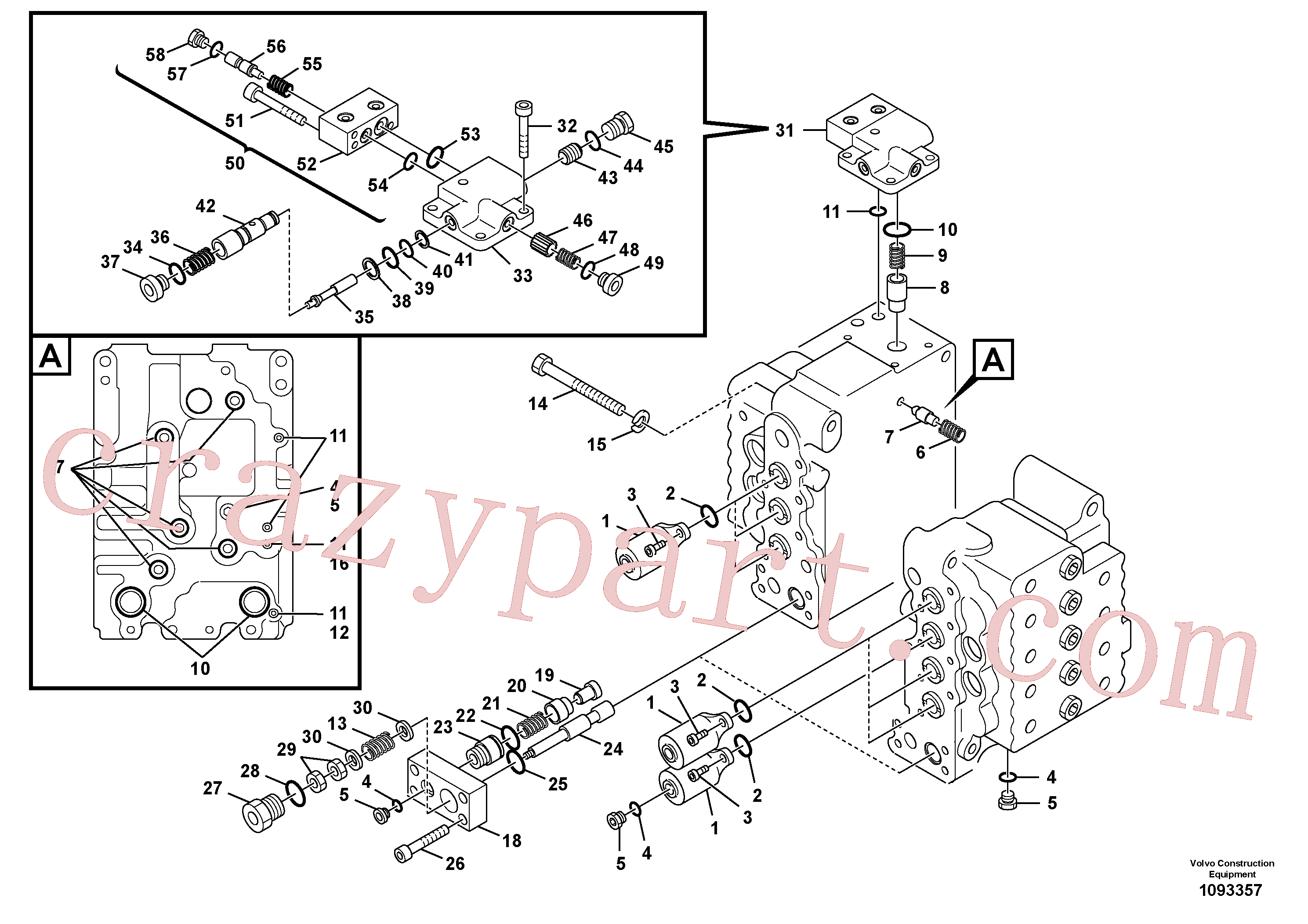 SA8230-10830 for Volvo Main control valve, relief valve and boom holding(1093357 assembly)