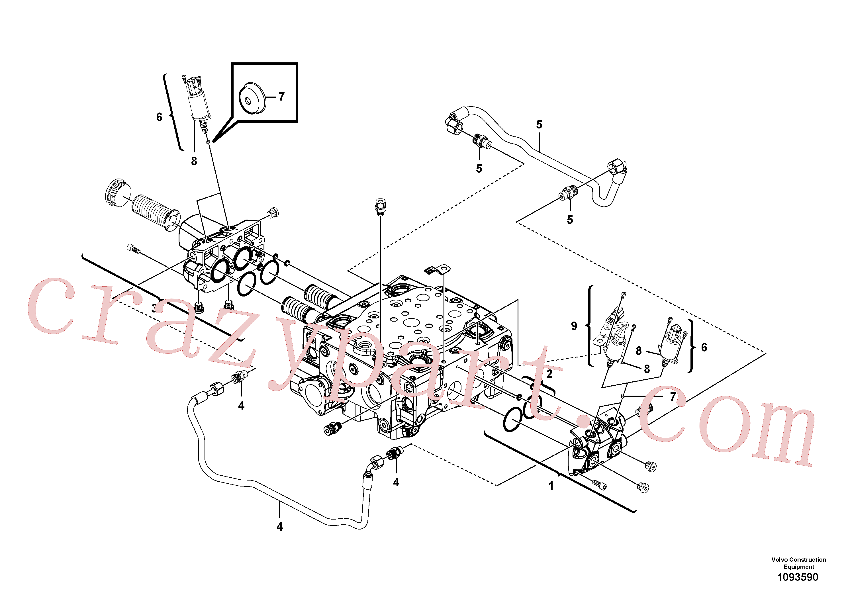 VOE15165610 for Volvo Main control valve(1093590 assembly)