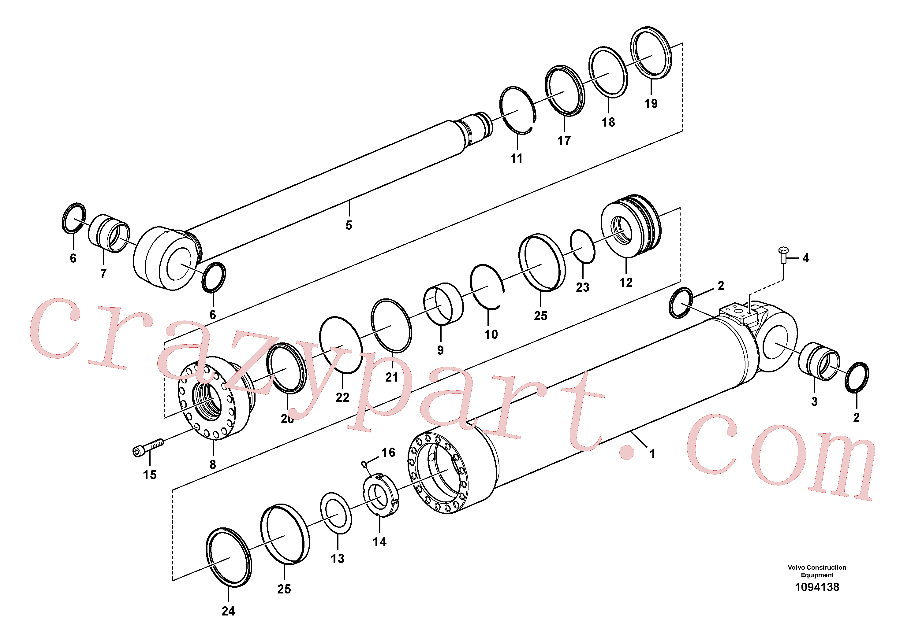VOE14884913 for Volvo Boom cylinder(1094138 assembly)