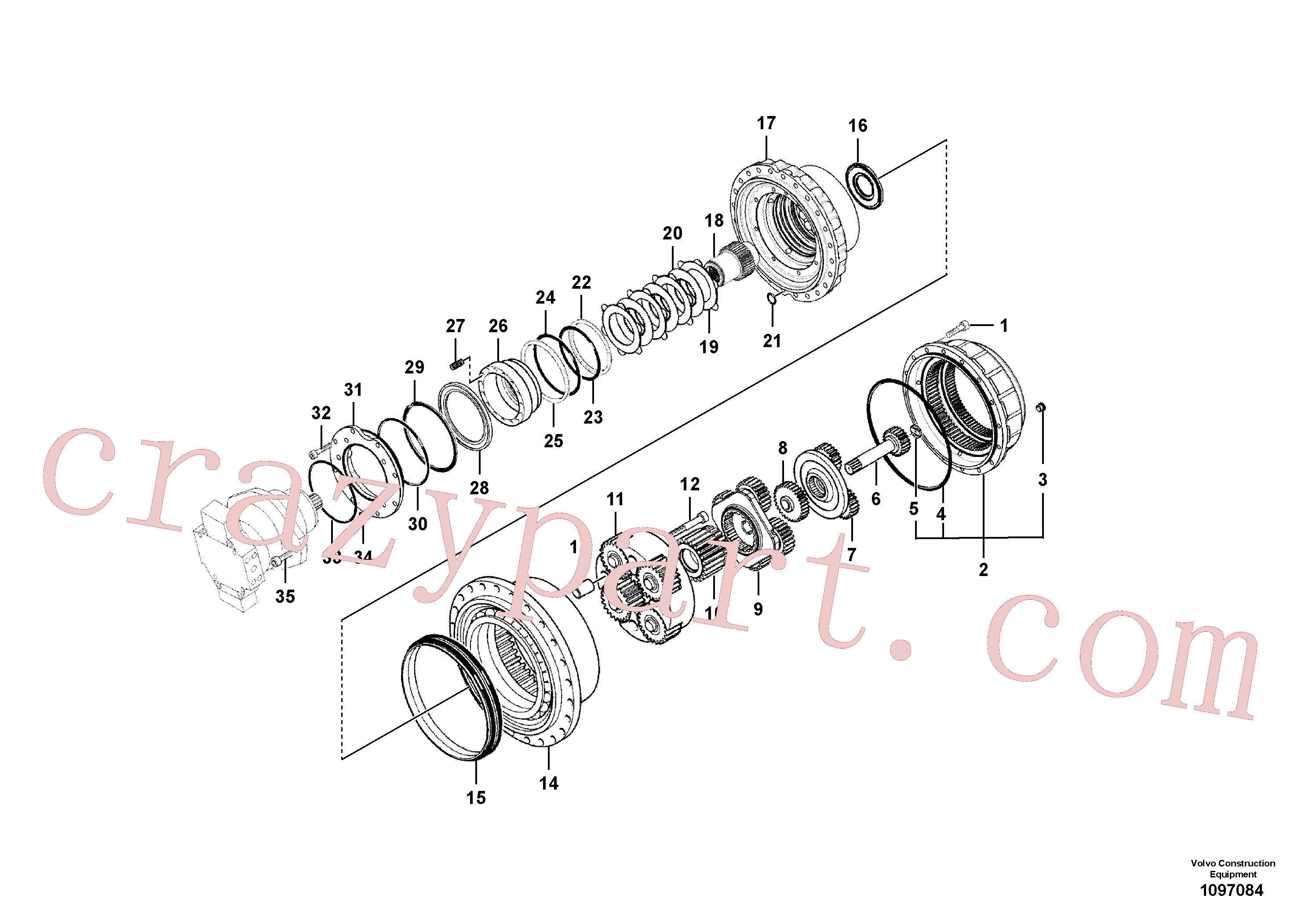 RM20349486 for Volvo Travel gearbox(1097084 assembly)