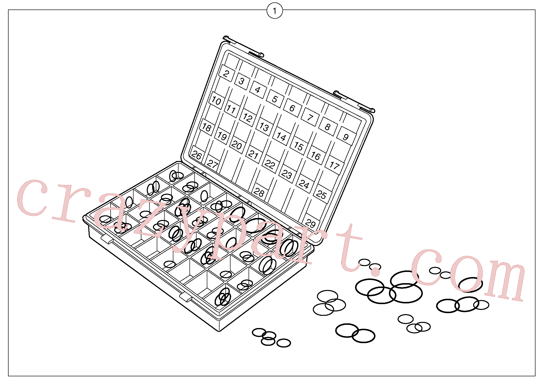 PJ4040248 for Volvo Seals suitcase for union , elbow , fitting ...(110Y1 assembly)