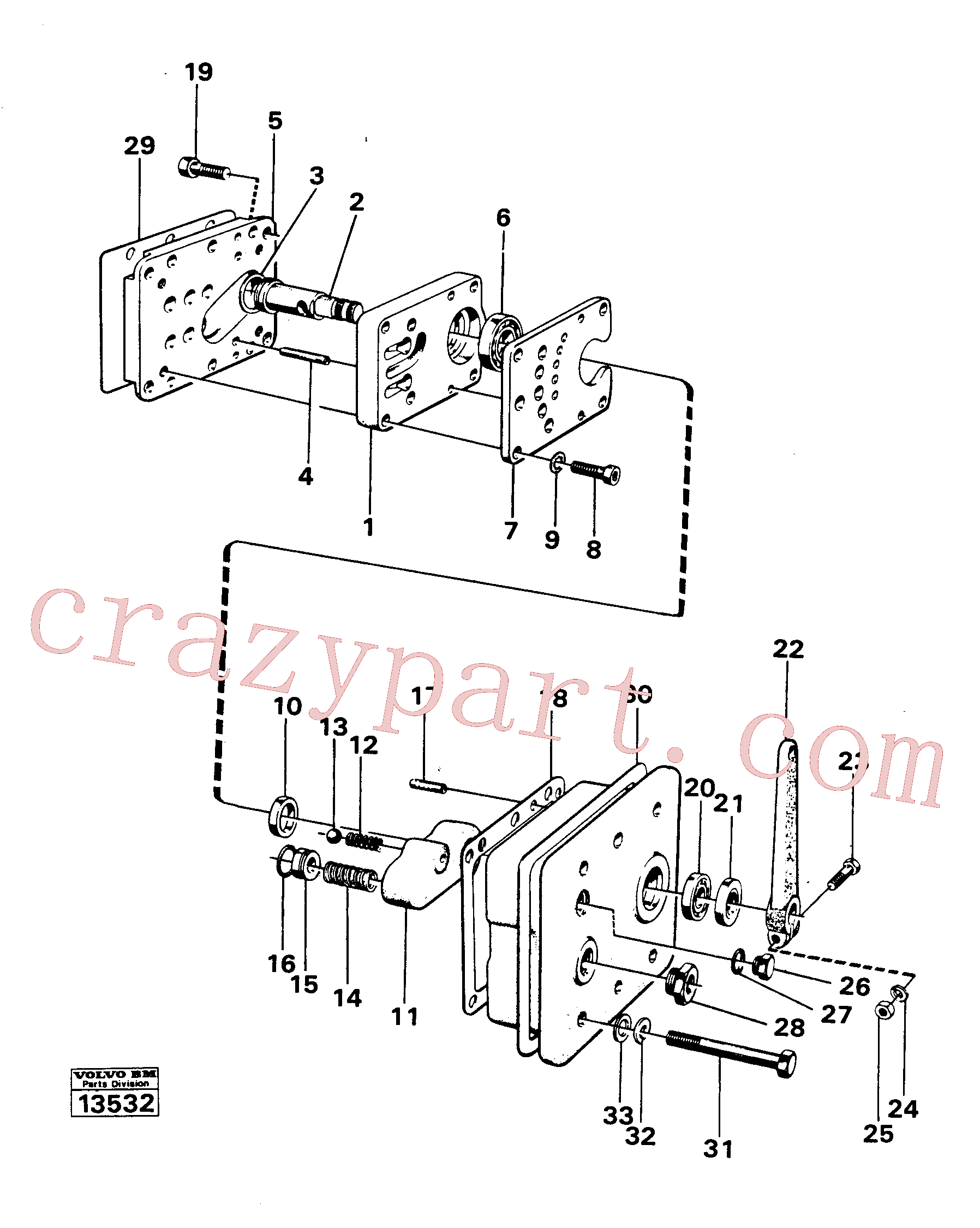 VOE958225 for Volvo Gear selector valve(13532 assembly)