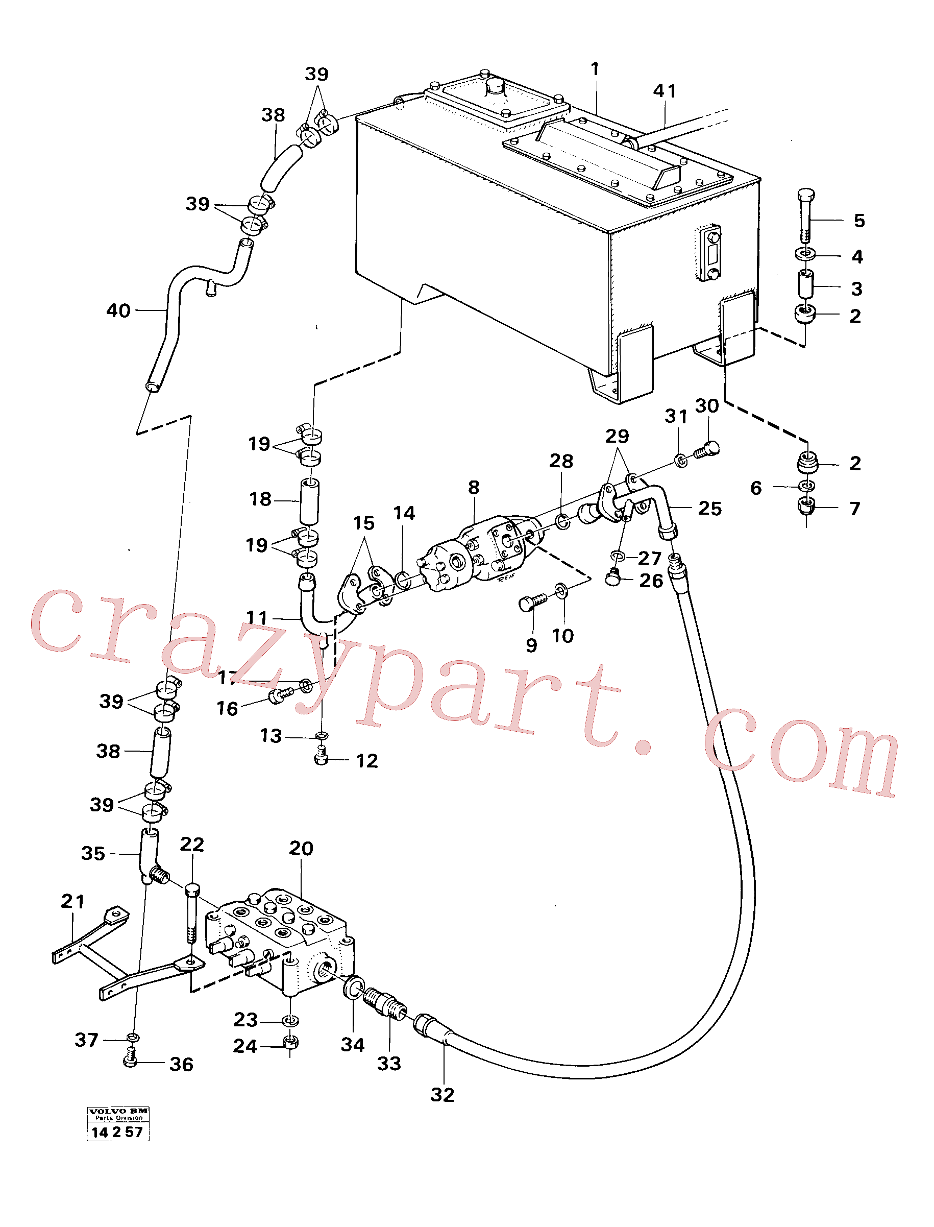 VOE13970984 for Volvo Feed lines(14257 assembly)