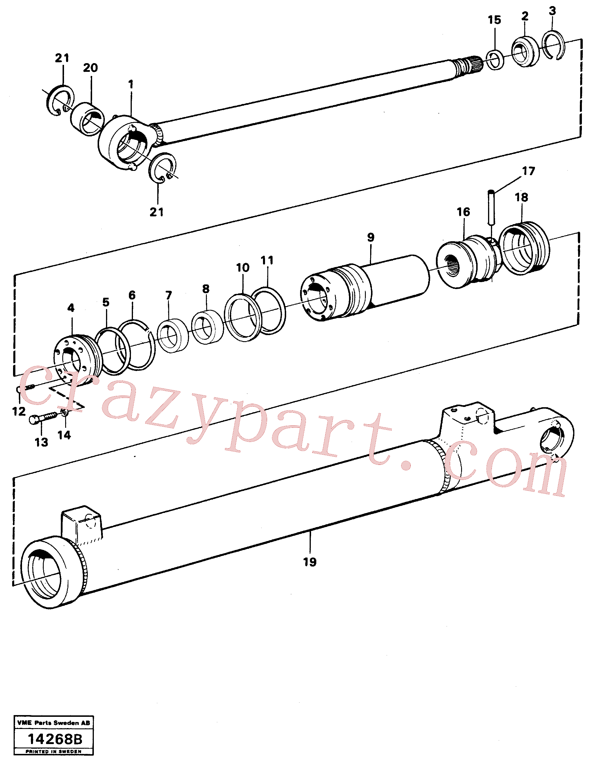 VOE4724499 for Volvo Hydraulic cylinder, lifting.(14268B assembly)