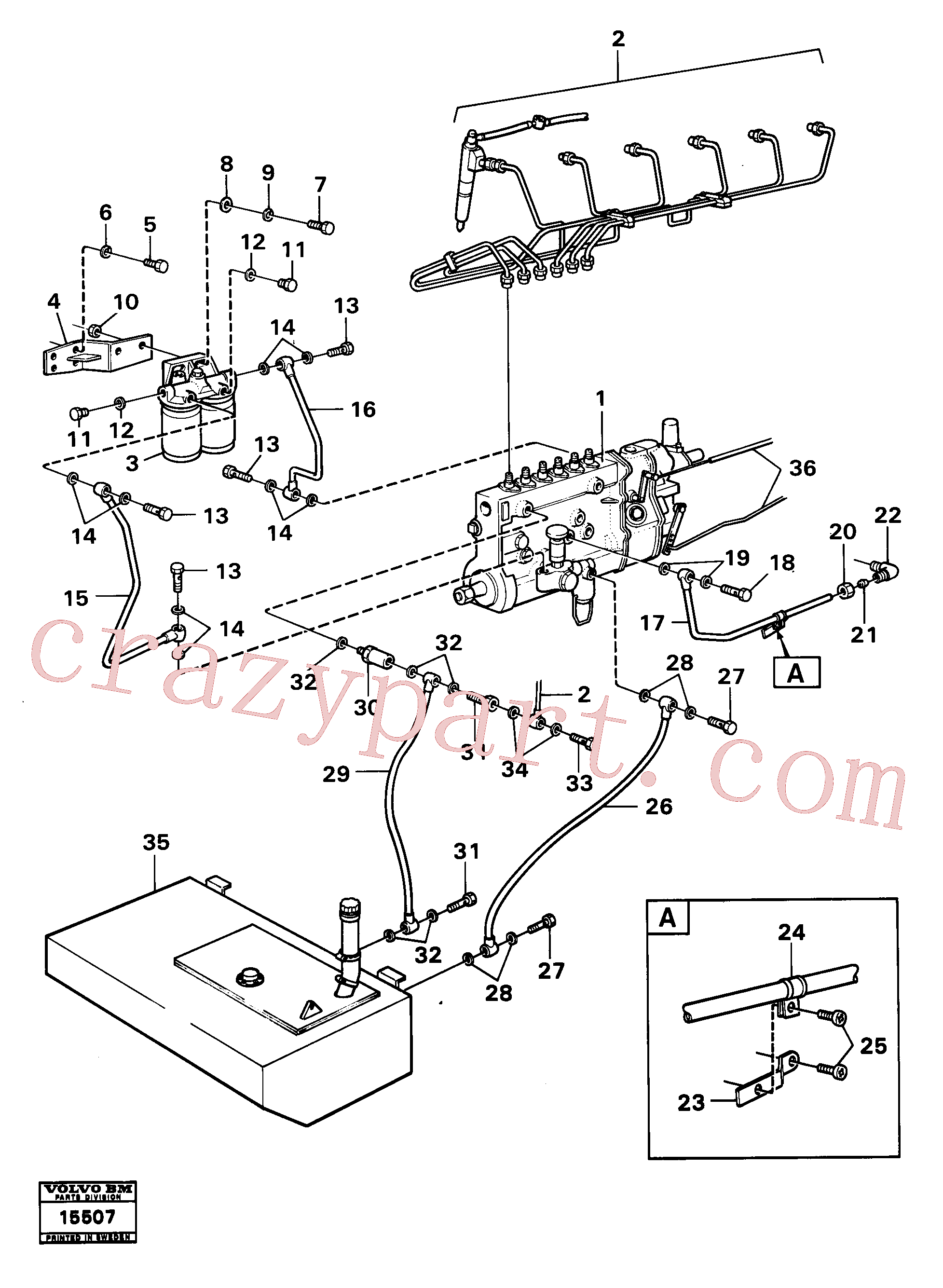 VOE940374 for Volvo Fuel system(15507 assembly)
