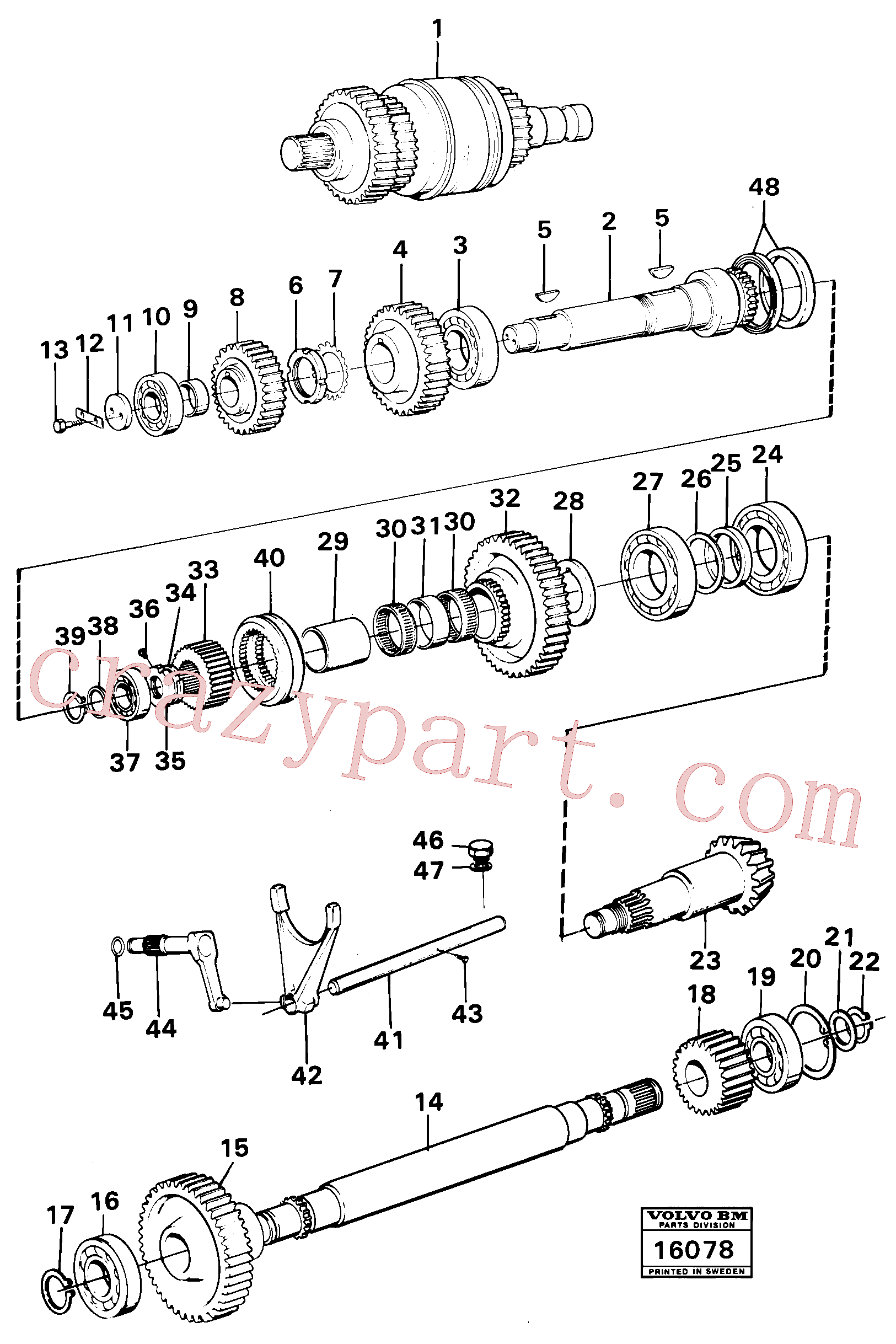 VOE914472 for Volvo Clutches,gears and shafts(16078 assembly)