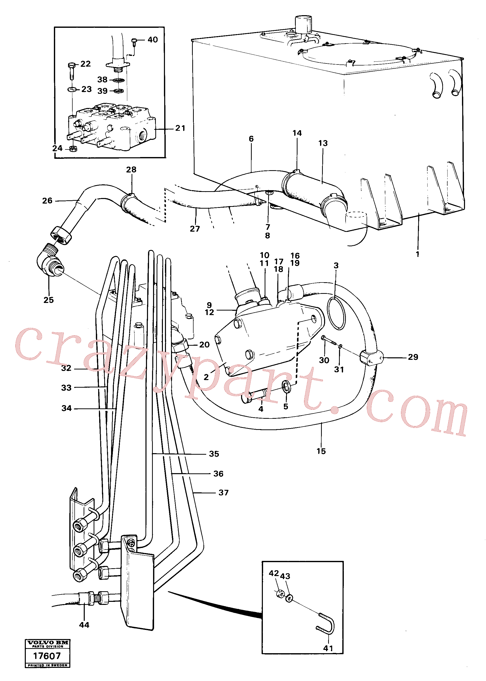 VOE927470 for Volvo Hydraulic system, rear.(17607 assembly)