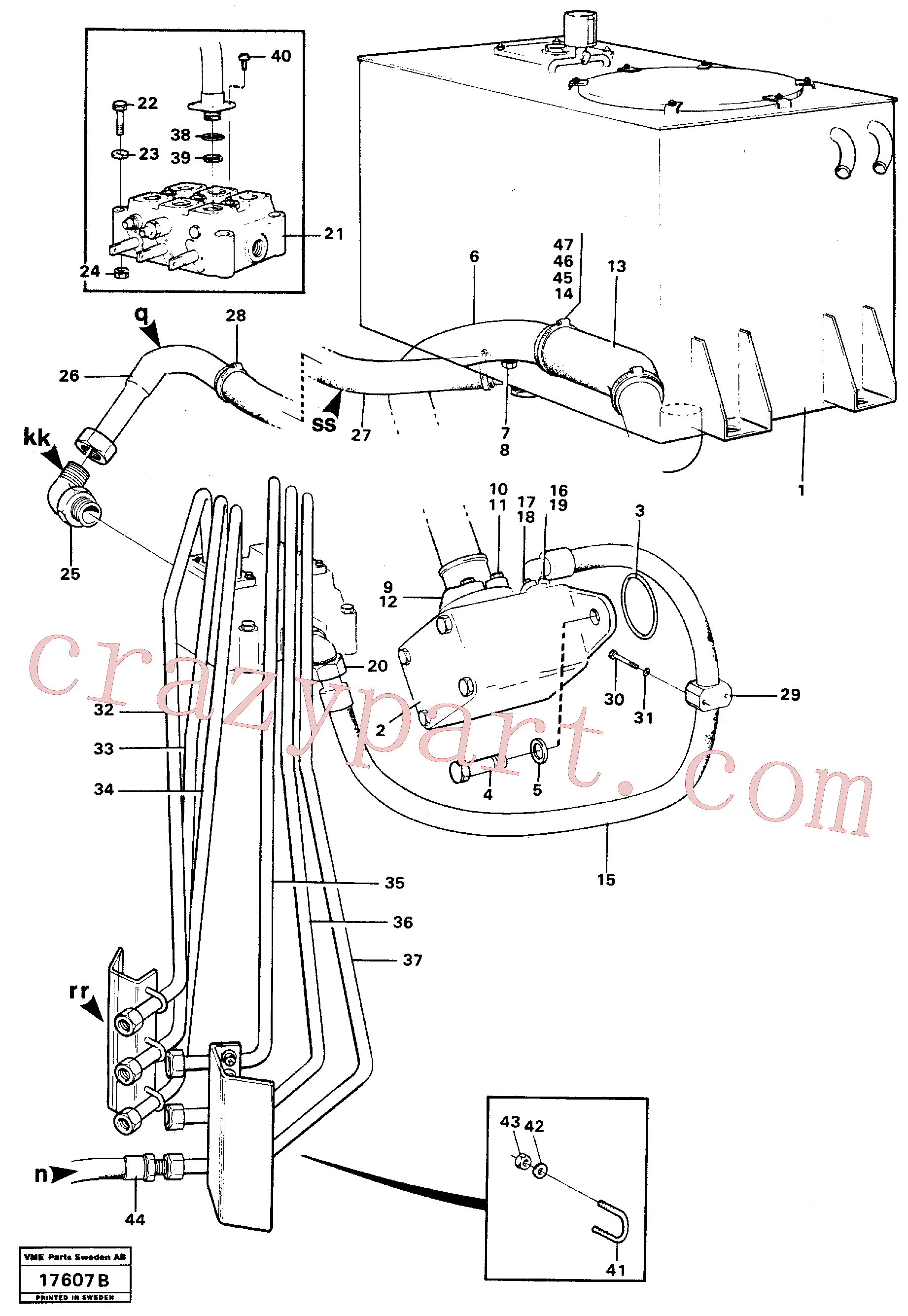 VOE927470 for Volvo Hydraulic system, rear(17607B assembly)