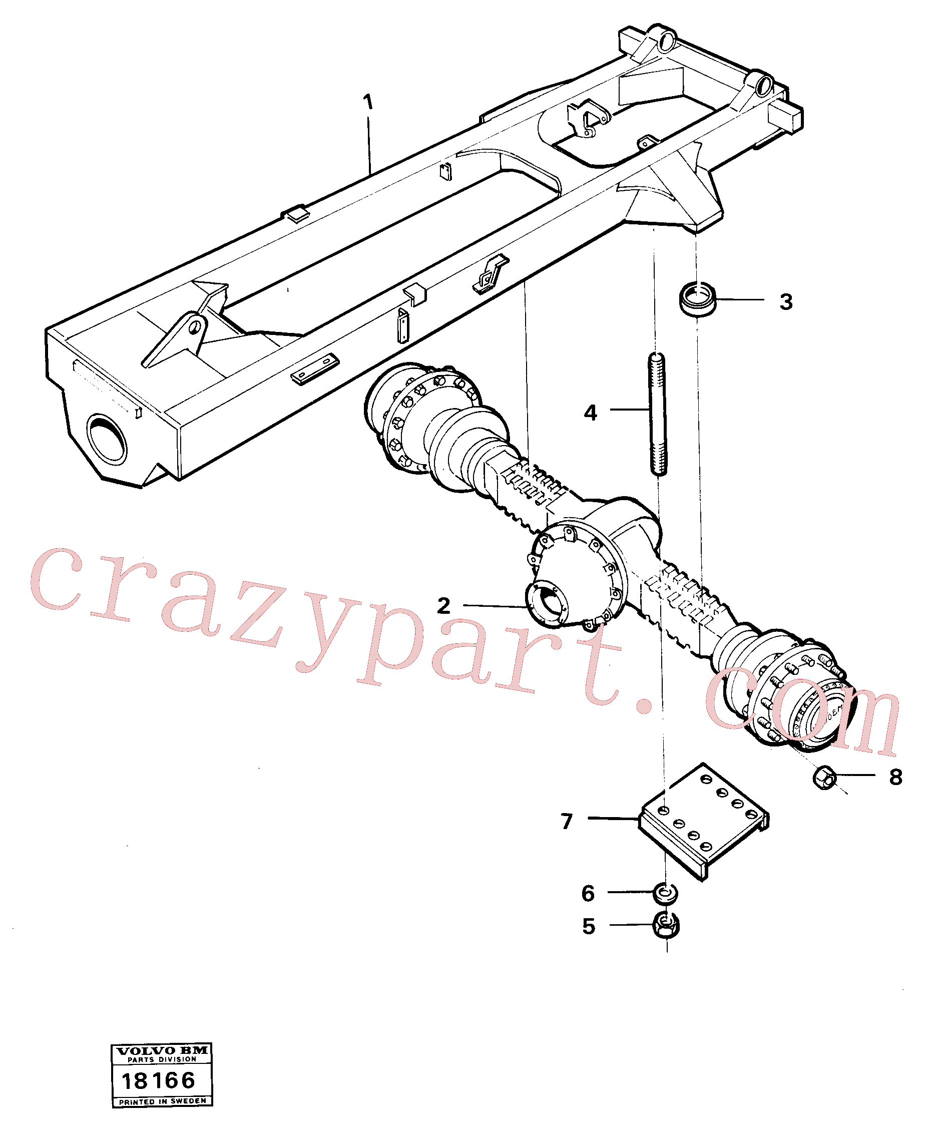 RM95922308 for Volvo Rear axle suspension., Rear axle suspension 4x4(18166 assembly)