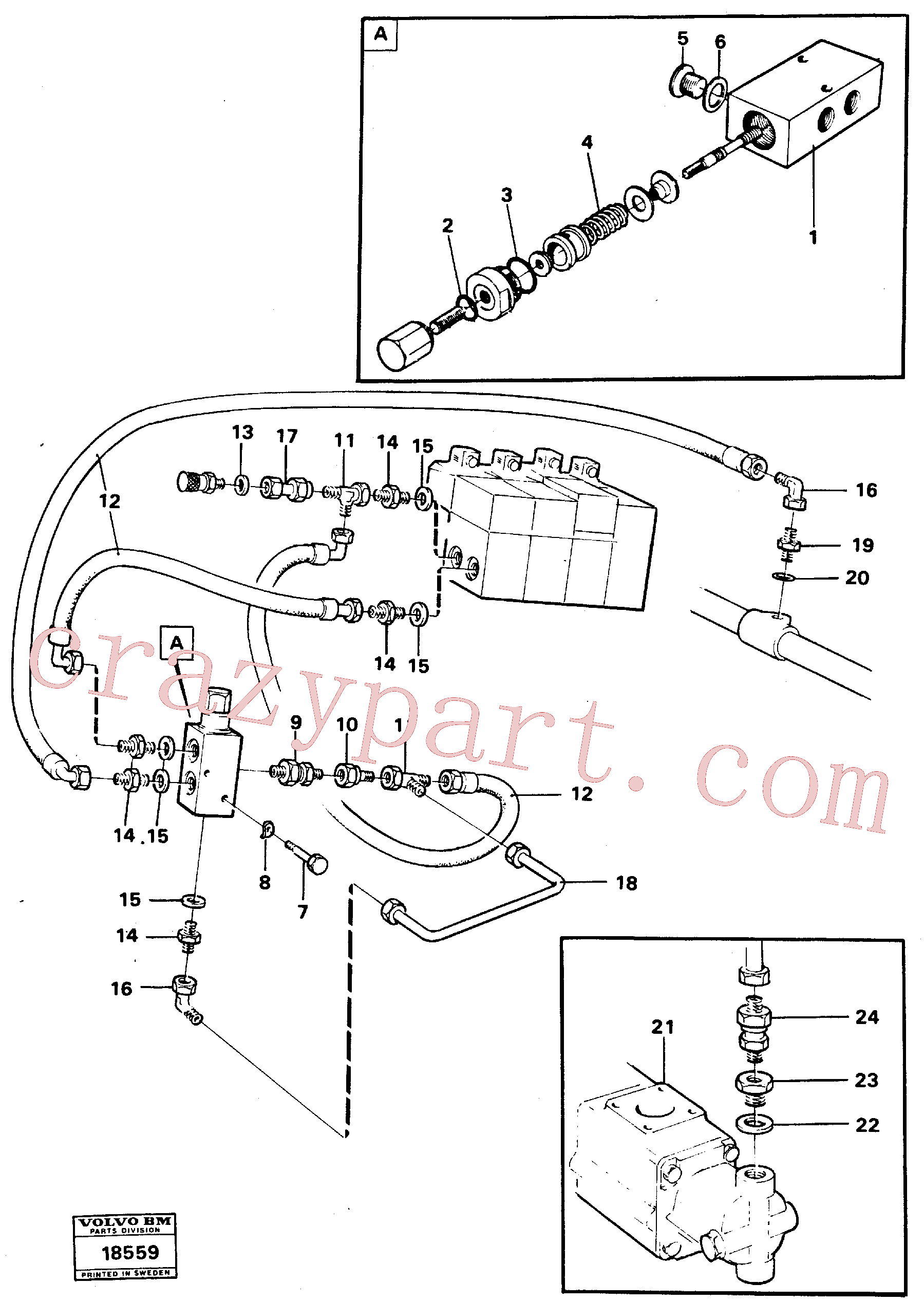 VOE940101 for Volvo Boom lowering system, Boom lowering system.(18559 assembly)