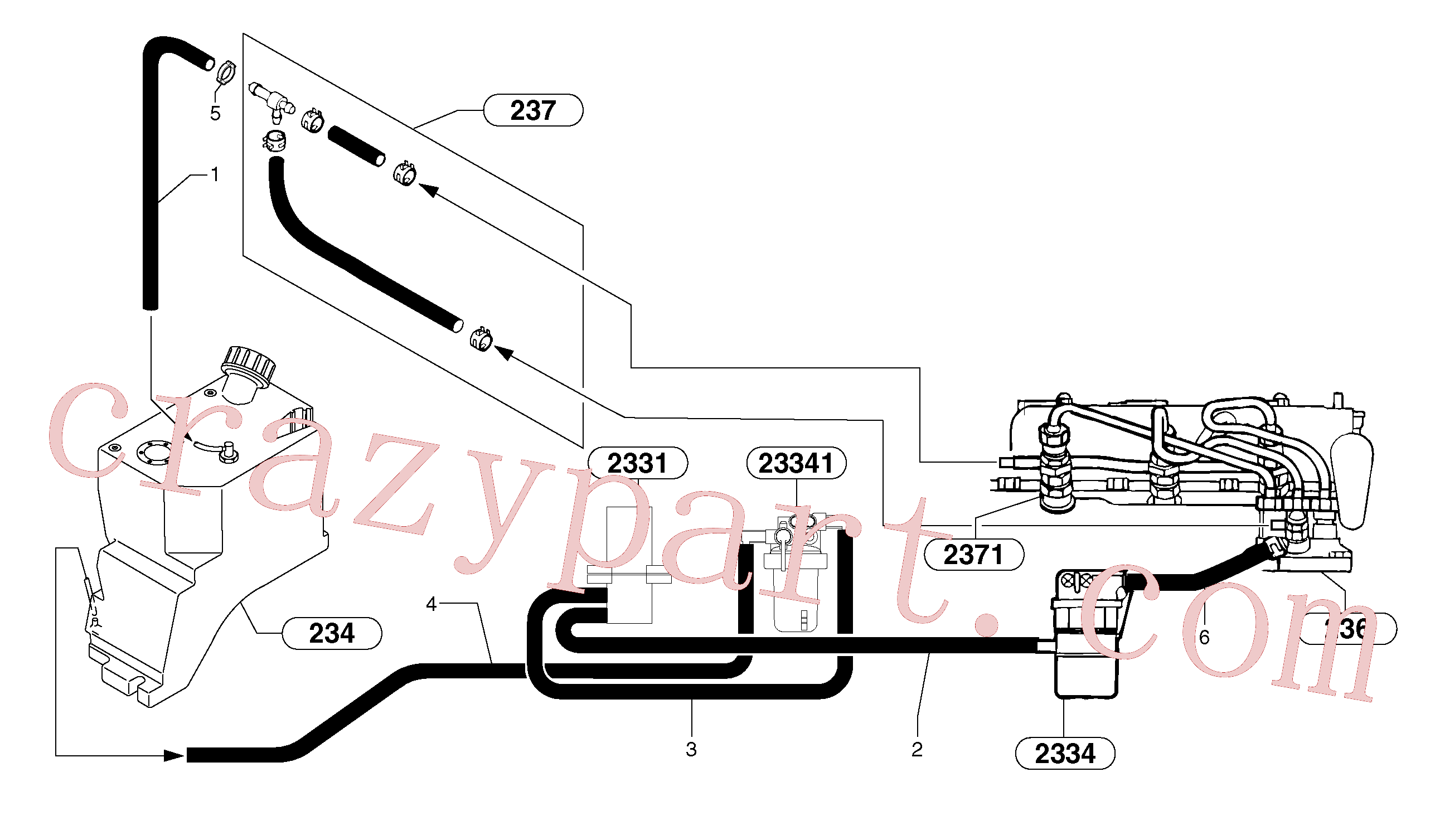 PJ4690040 for Volvo Fuel circuit(235AX1 assembly)