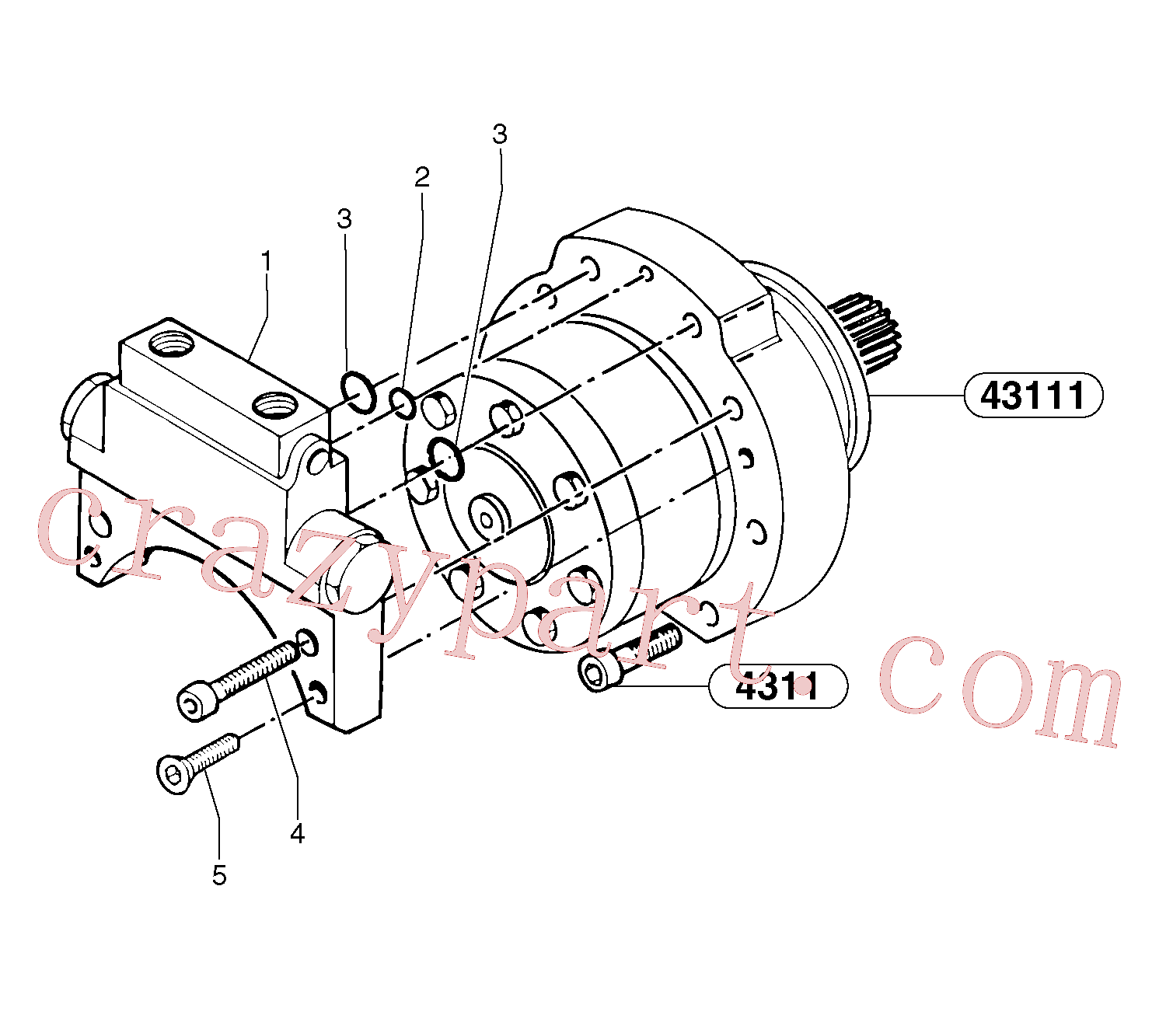PJ7415939 for Volvo Balancing valve ( travelling )(43113X1 assembly)