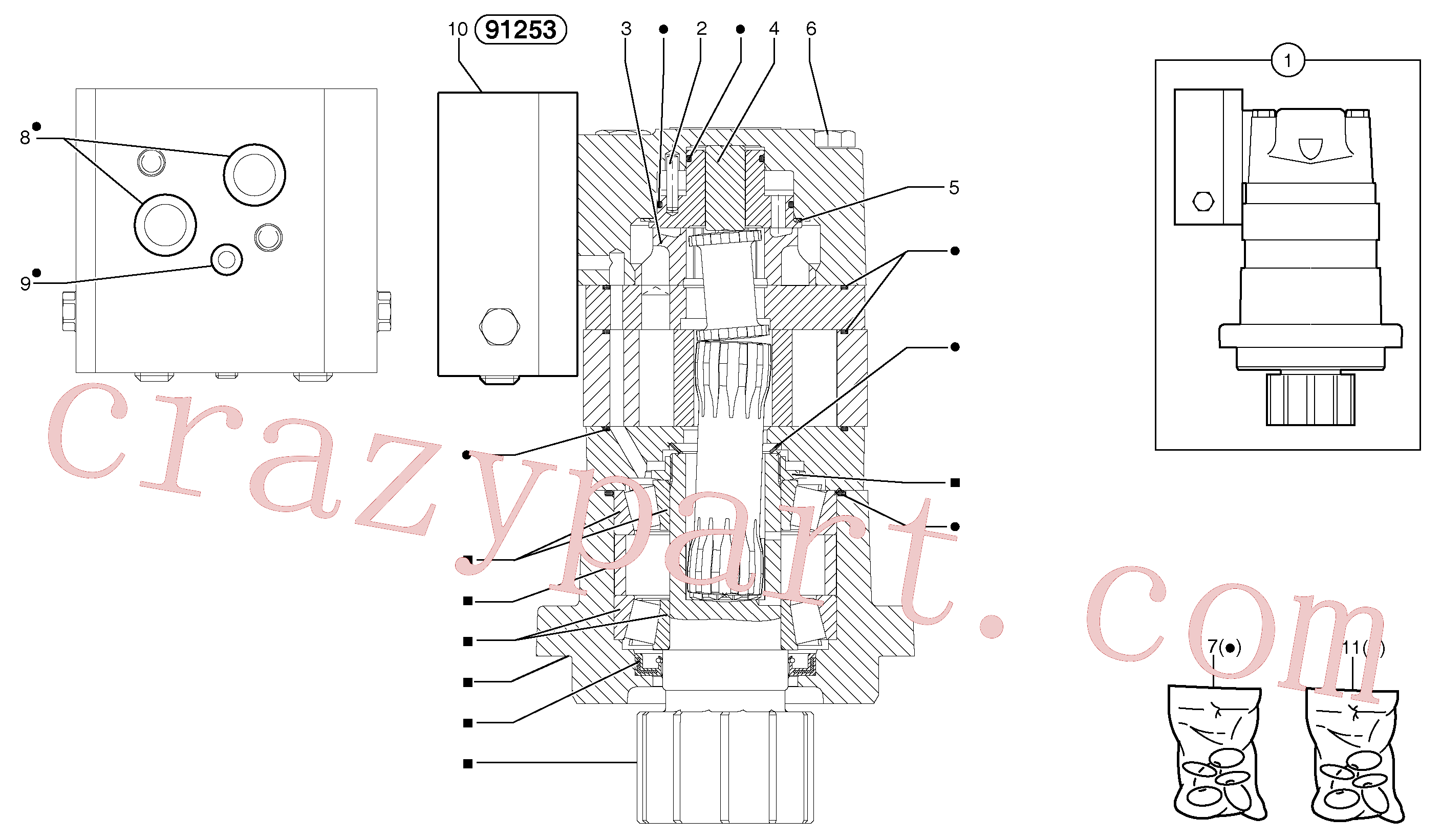 PJ7416848 for Volvo Slewing gear motor(4412AZ1 assembly)