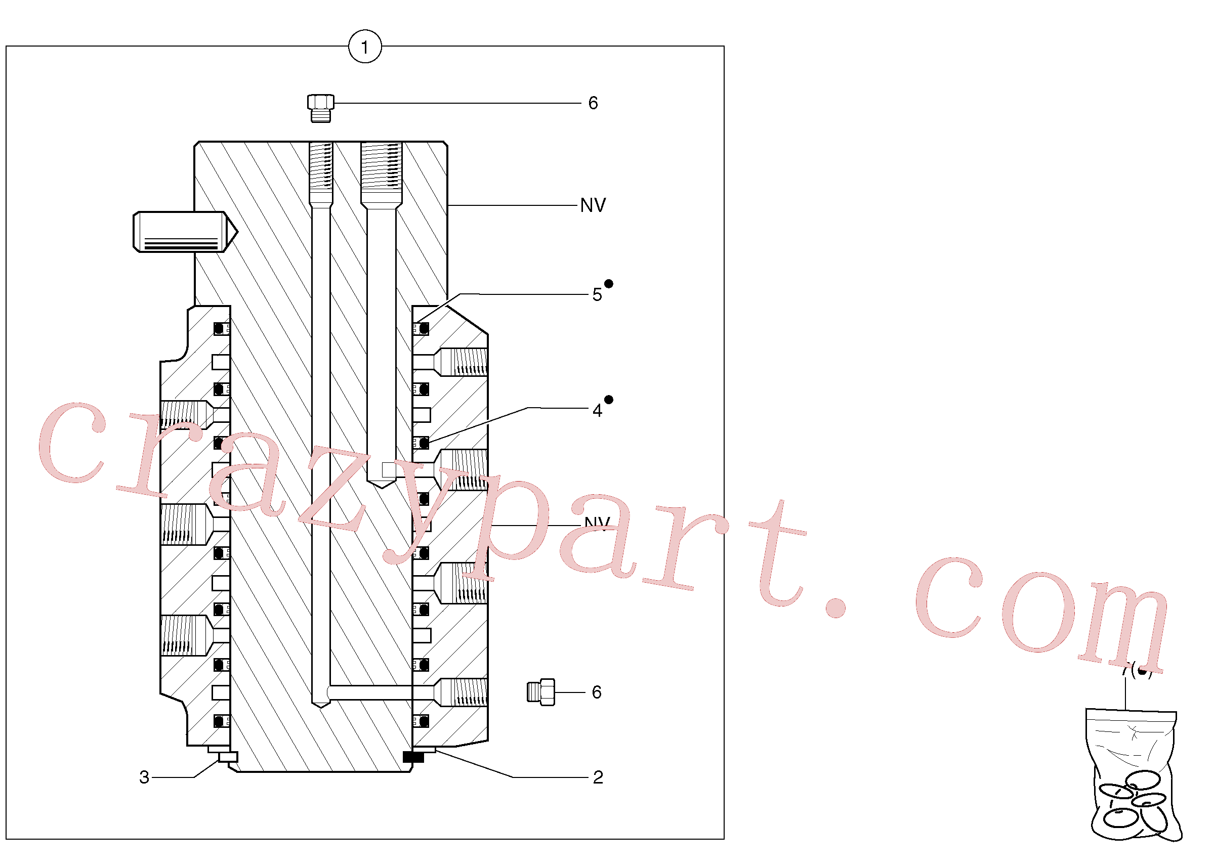 PJ7411230 for Volvo Swivel joint(4431X1 assembly)