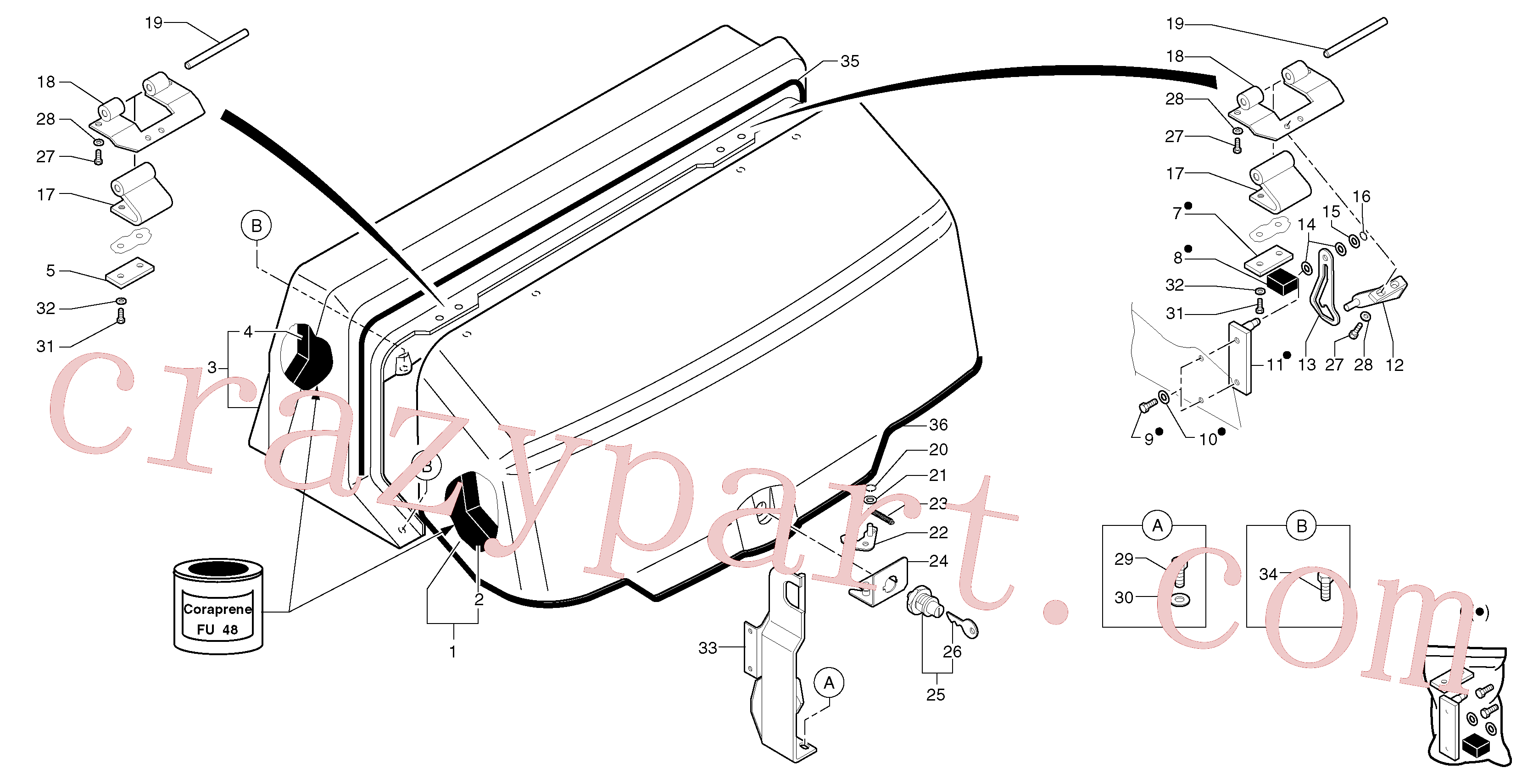 VOE11804257 for Volvo Engine coverage(821X1 assembly)