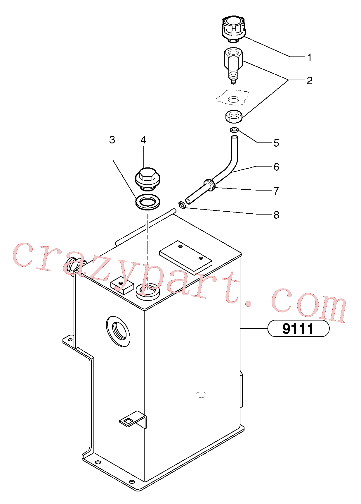 PJ4690040 for Volvo Lubrication oil filler and breather(9115X1 assembly)