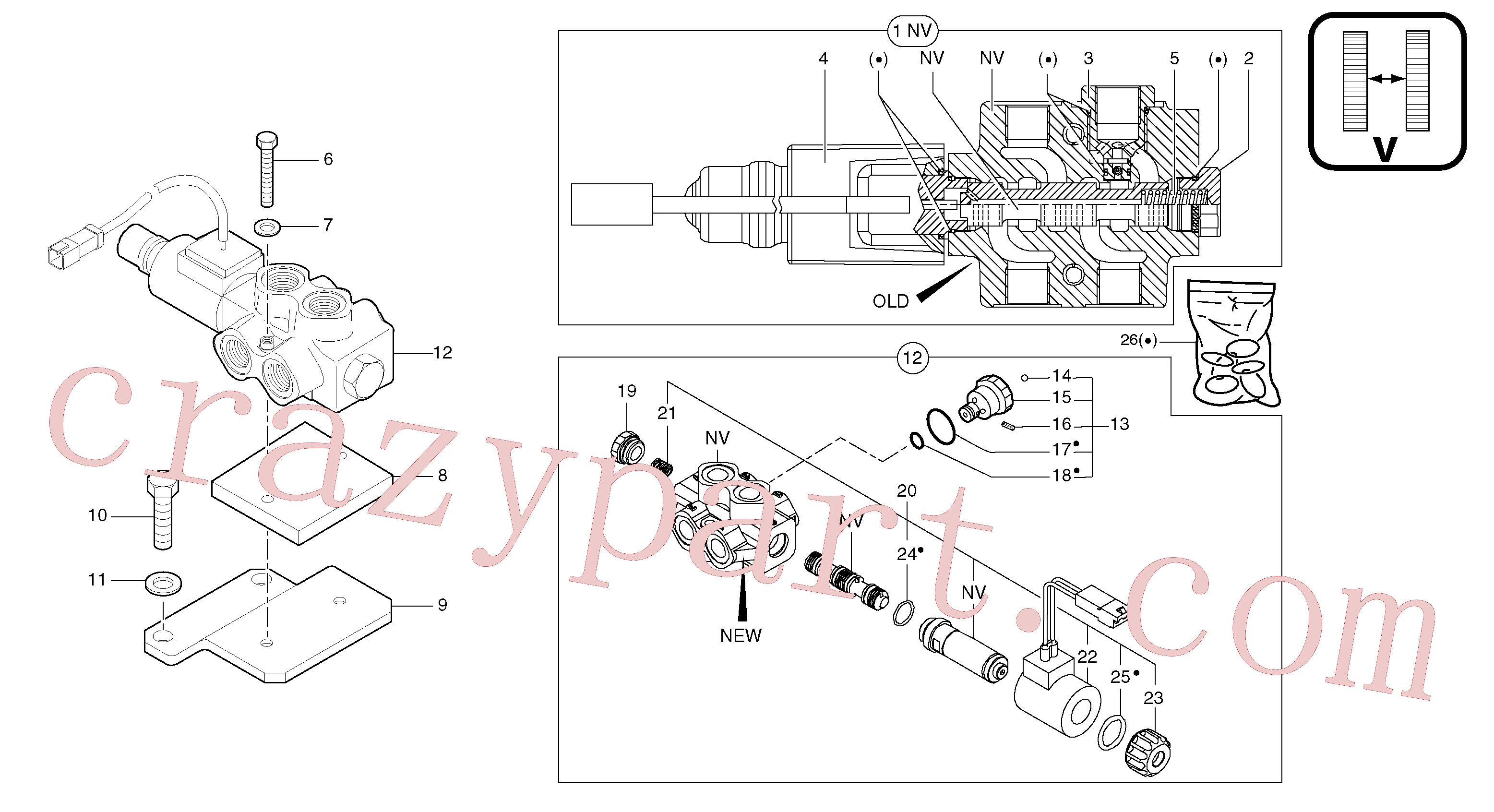 PJ7418156 for Volvo Selector / variable track(91216X2 assembly)