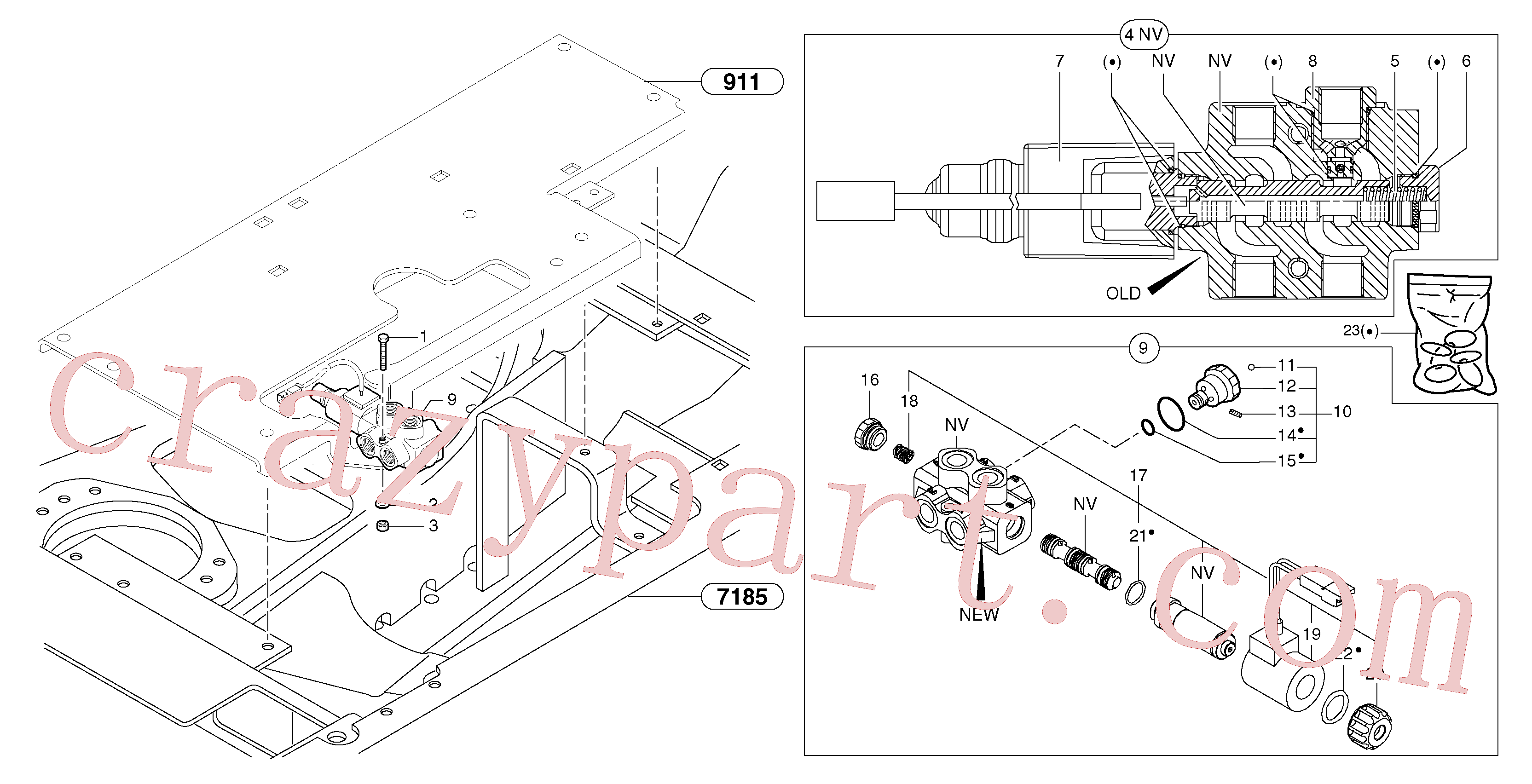 PJ7418156 for Volvo Slewing-offset selector switch(9124Y1 assembly)