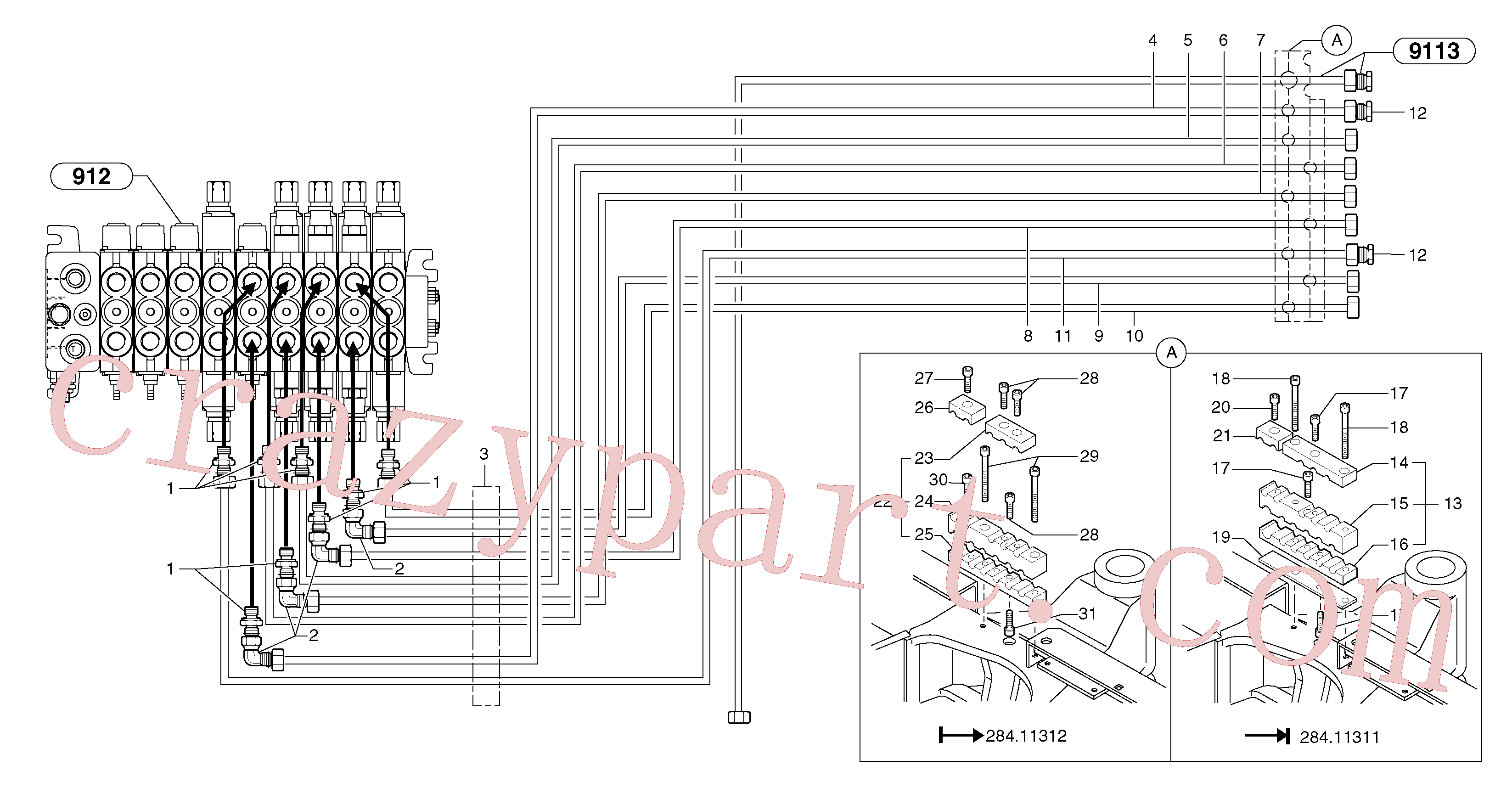 PJ4690716 for Volvo Hydraulic circuit ( platform )(9164FY4 assembly)