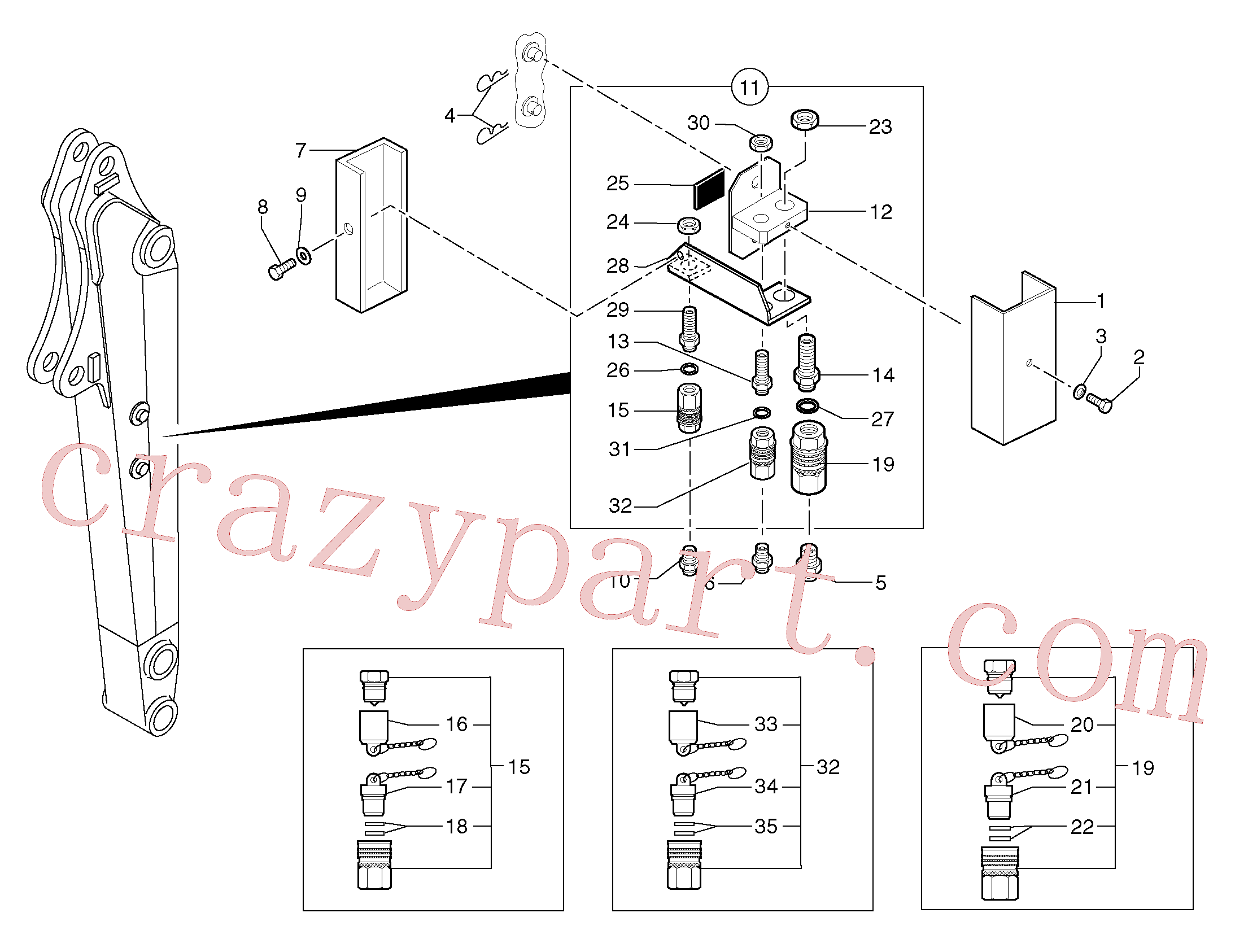 PJ4750303 for Volvo Kit coupler ( double acting )(91692X1 assembly)