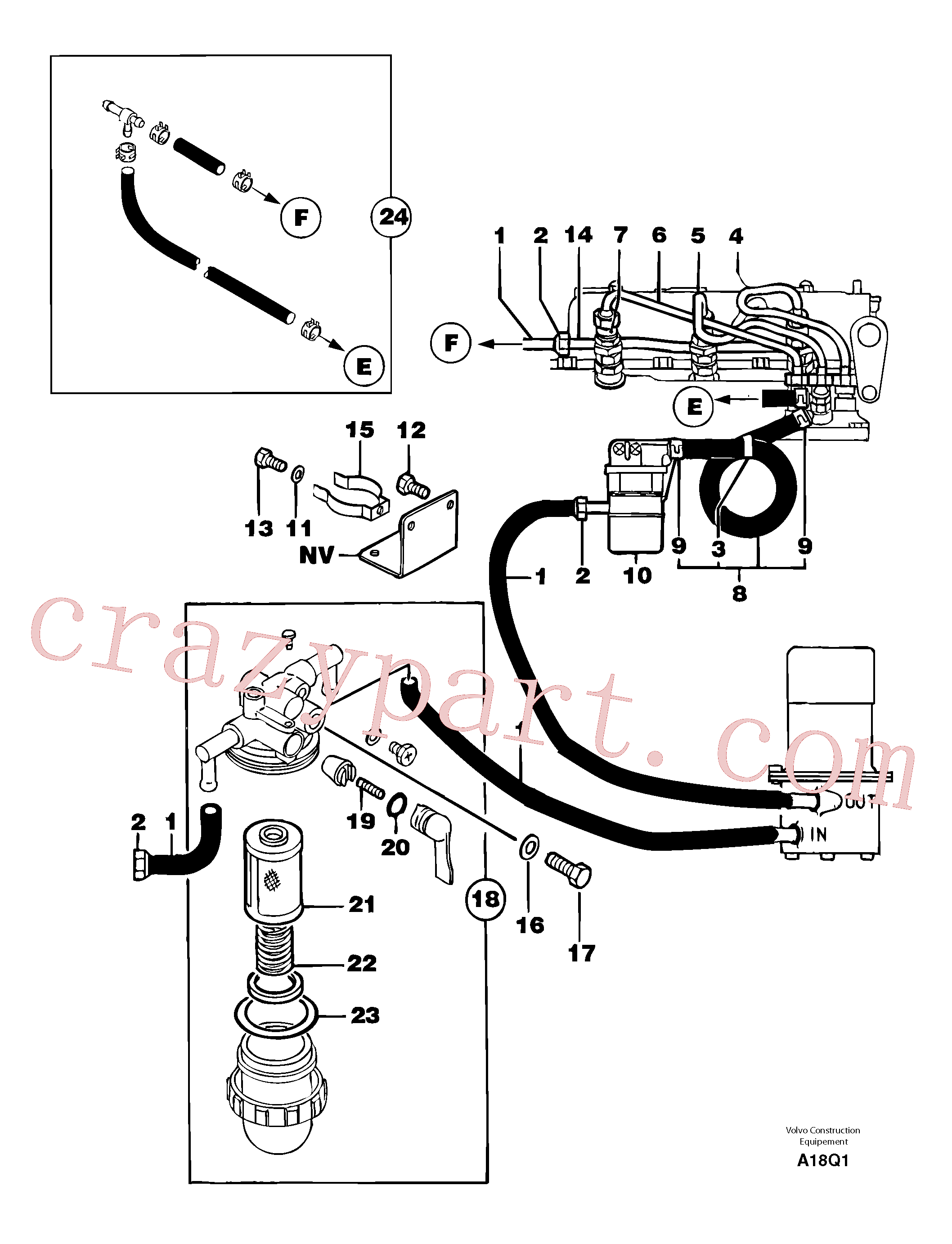PJ4690040 for Volvo Fuel circuit(A18Q1 assembly)