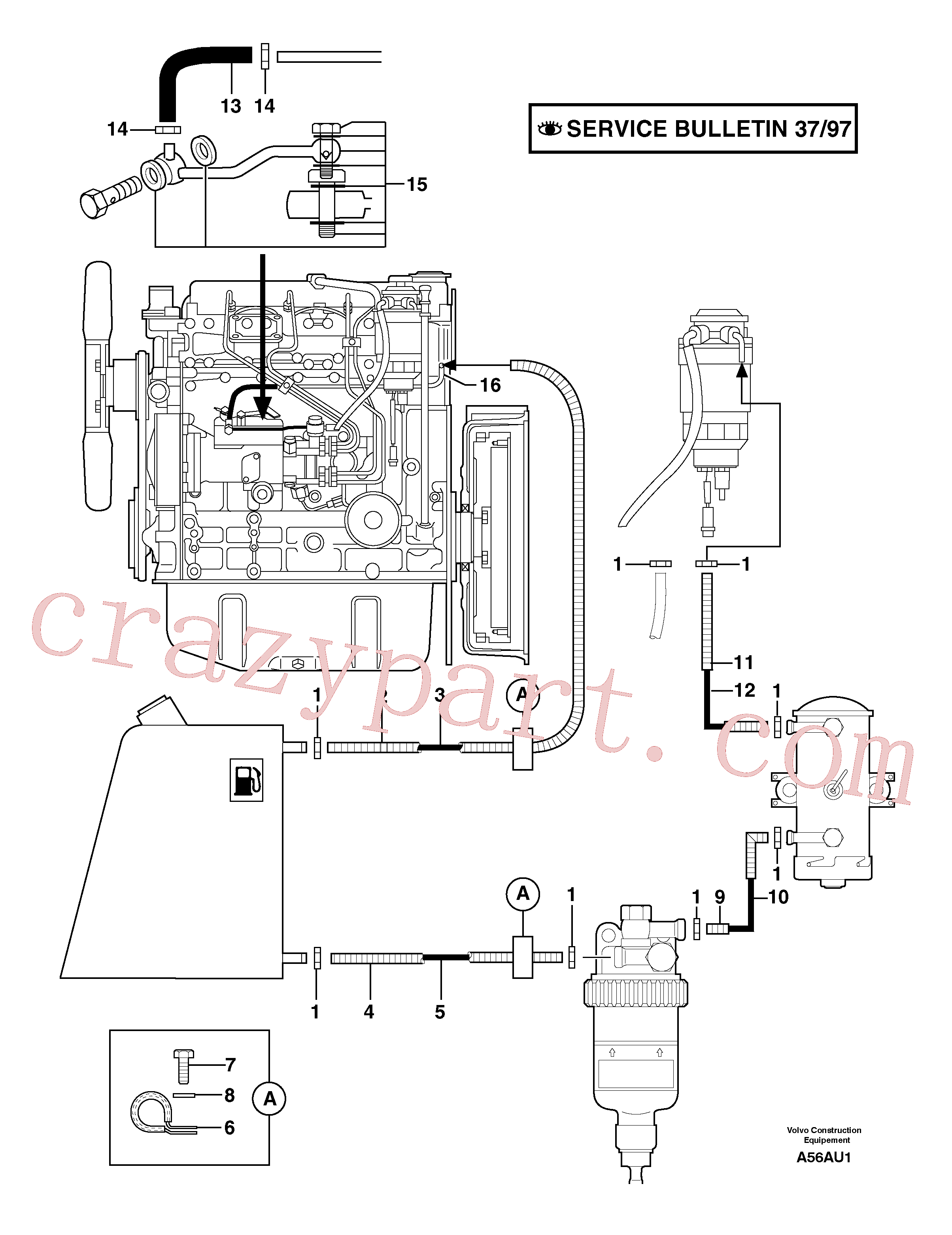 VOE11806694 for Volvo Fuel circuit(A56AU1 assembly)