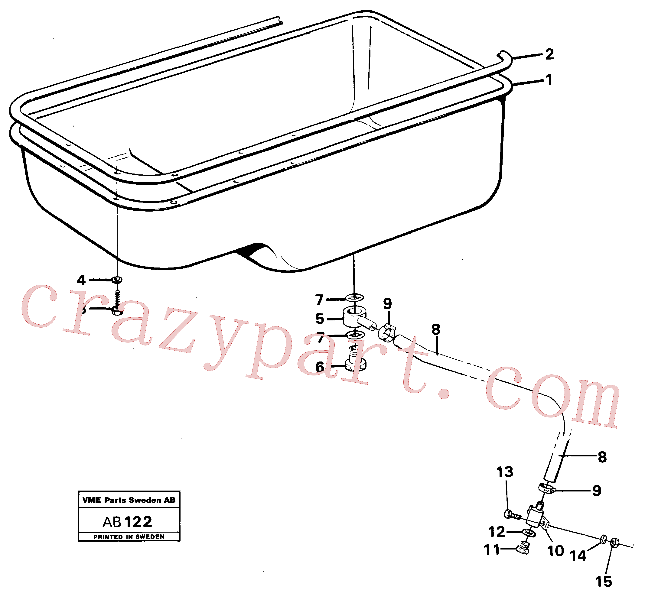 VOE958225 for Volvo Oil sump(AB122 assembly)