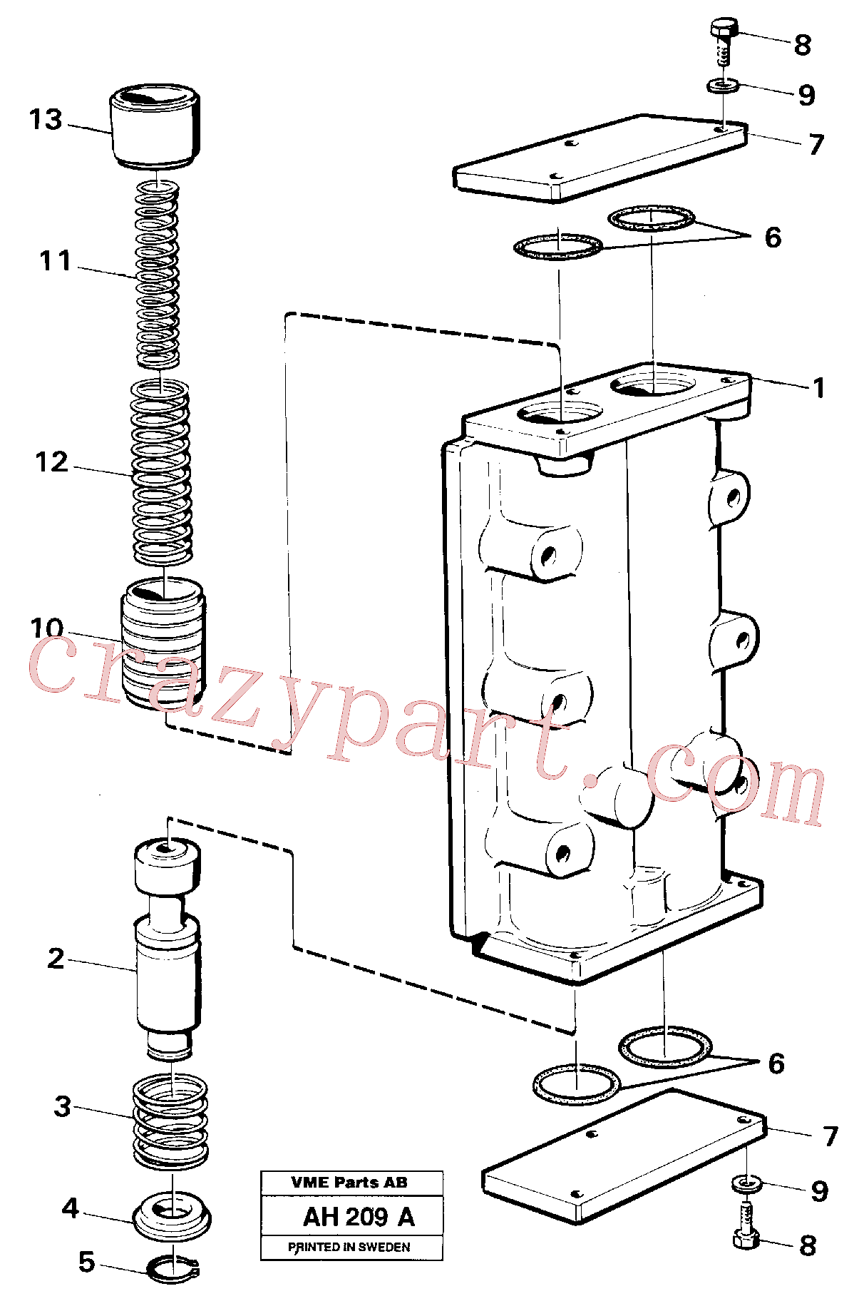 VOE914448 for Volvo Valve,(AH209A assembly)