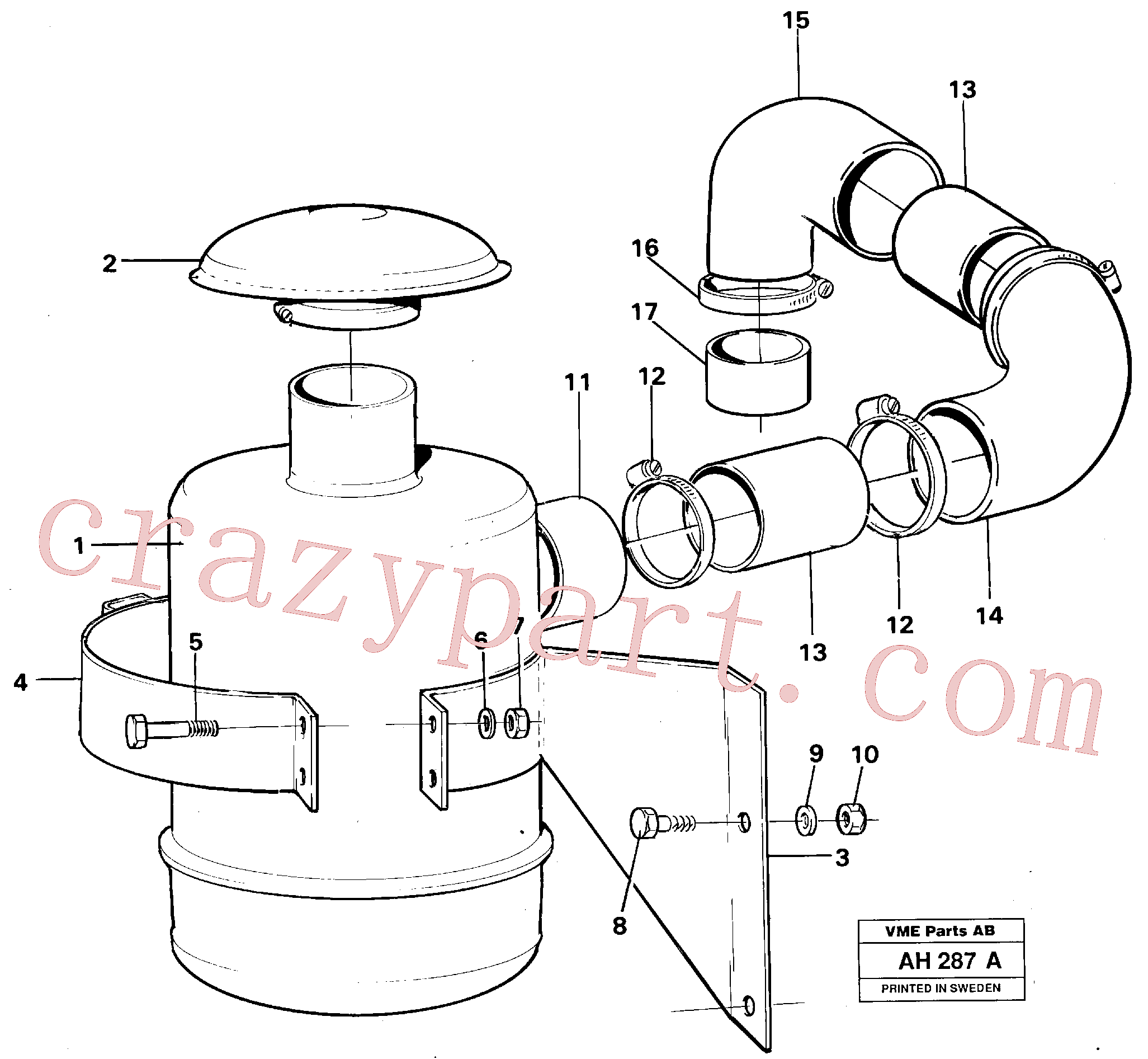 VOE955304 for Volvo Oil bath filter(AH287A assembly)