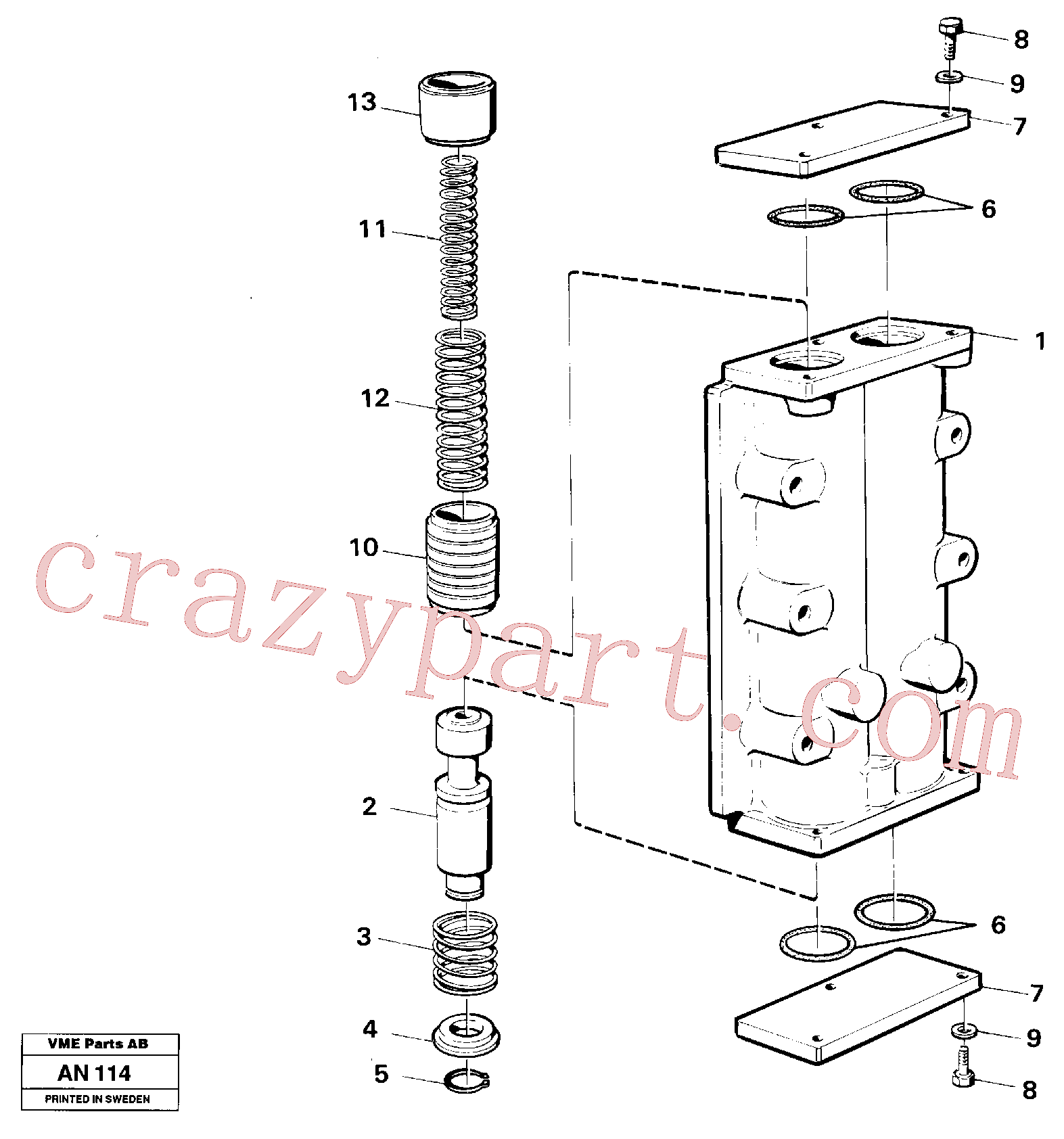 VOE914448 for Volvo Valve, circuit body and return valve(AN114 assembly)
