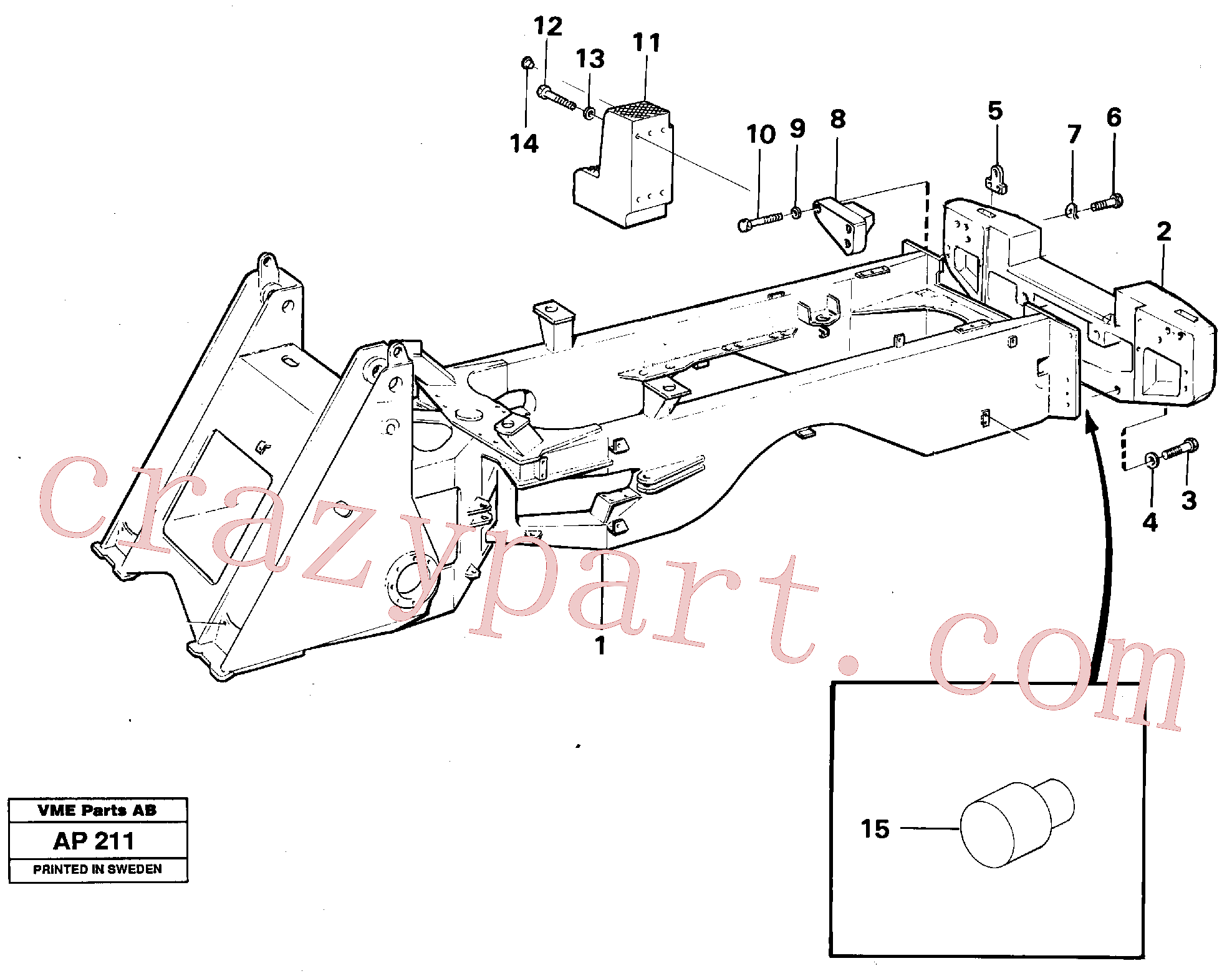 ZM7097118 for Volvo Counterweight(AP211 assembly)
