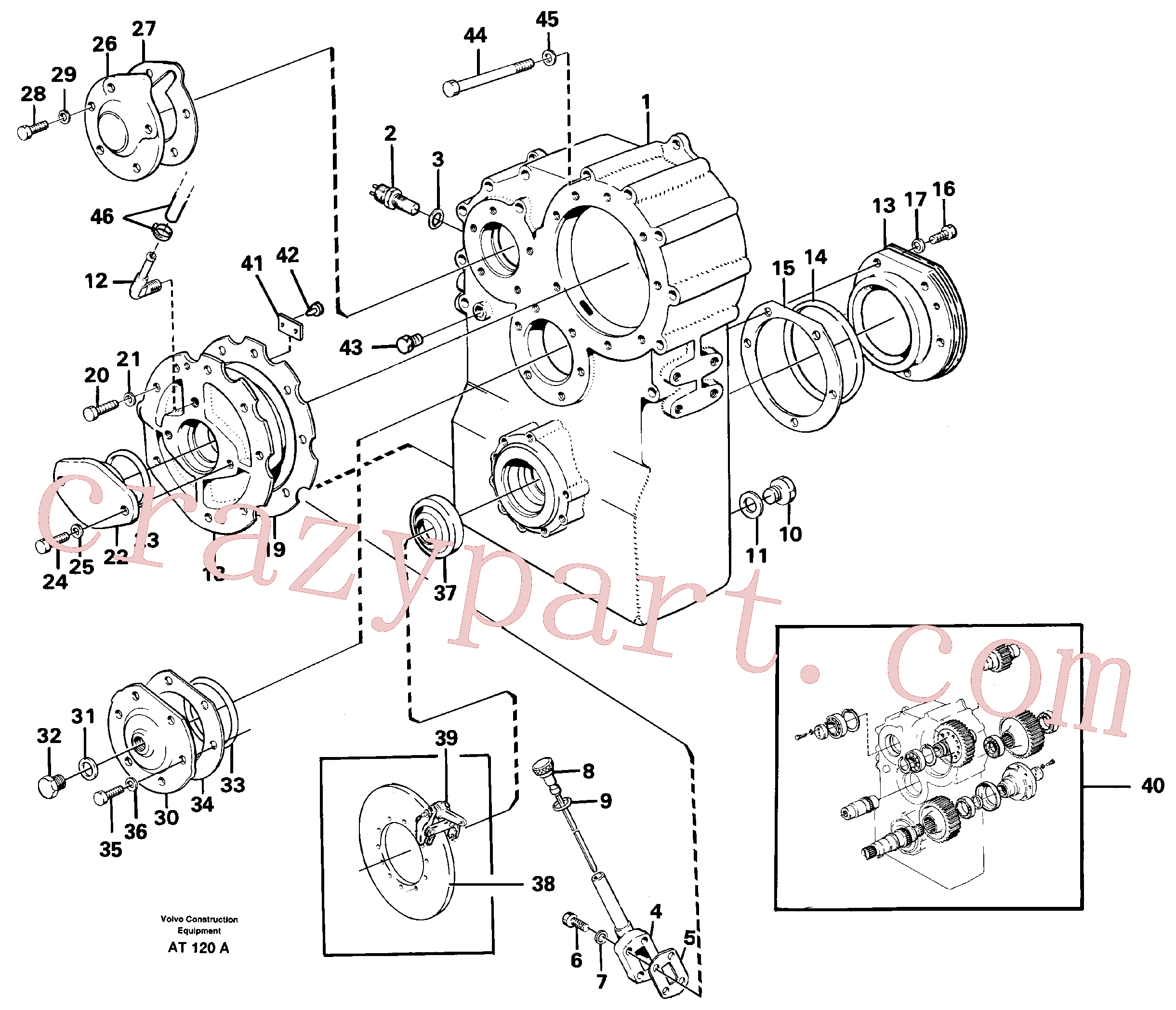 VOE180283 for Volvo Dropbox housing and cover(AT120A assembly)