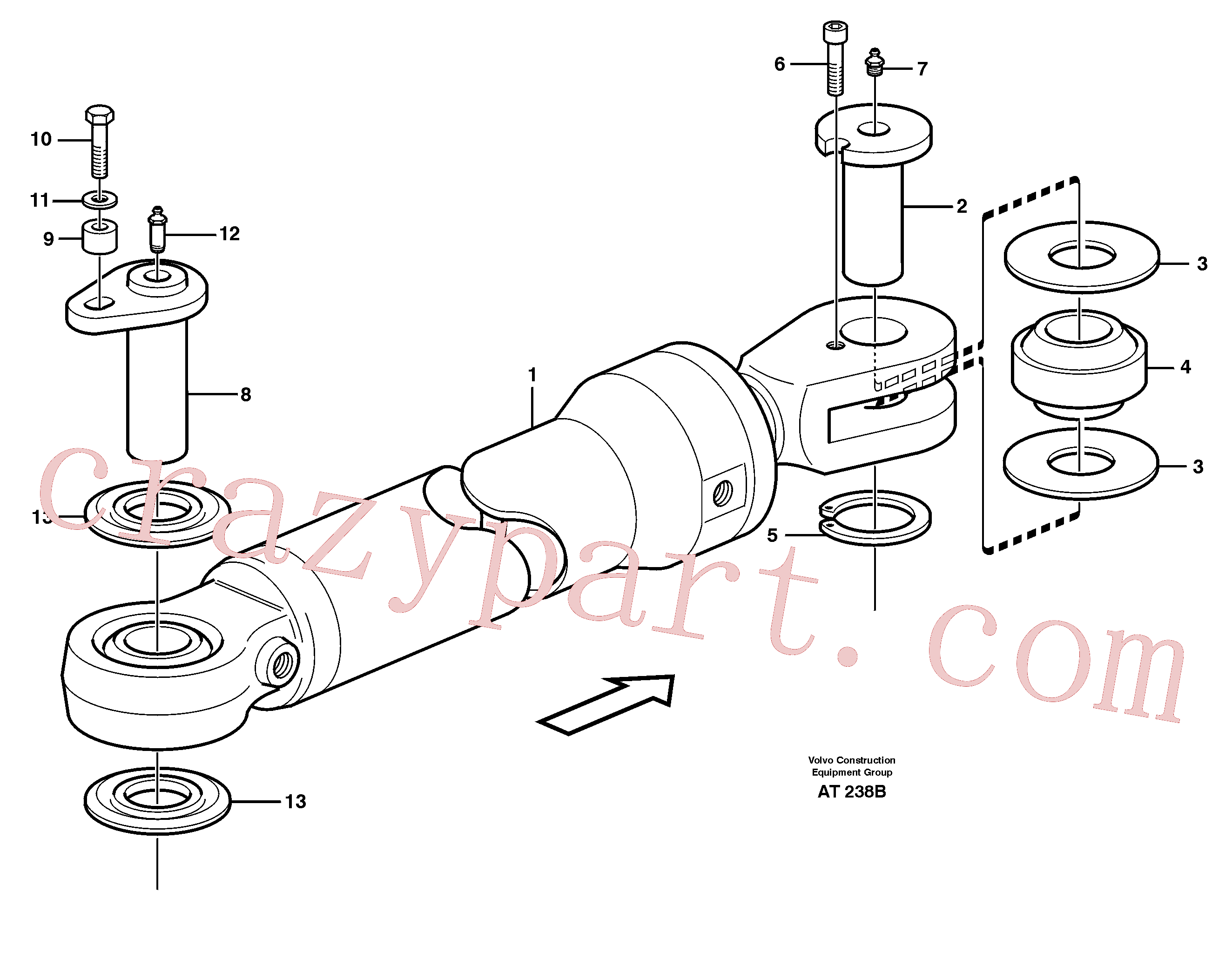 VOE4782563 for Volvo Hydraulic cylinder, assembly(AT238B assembly)