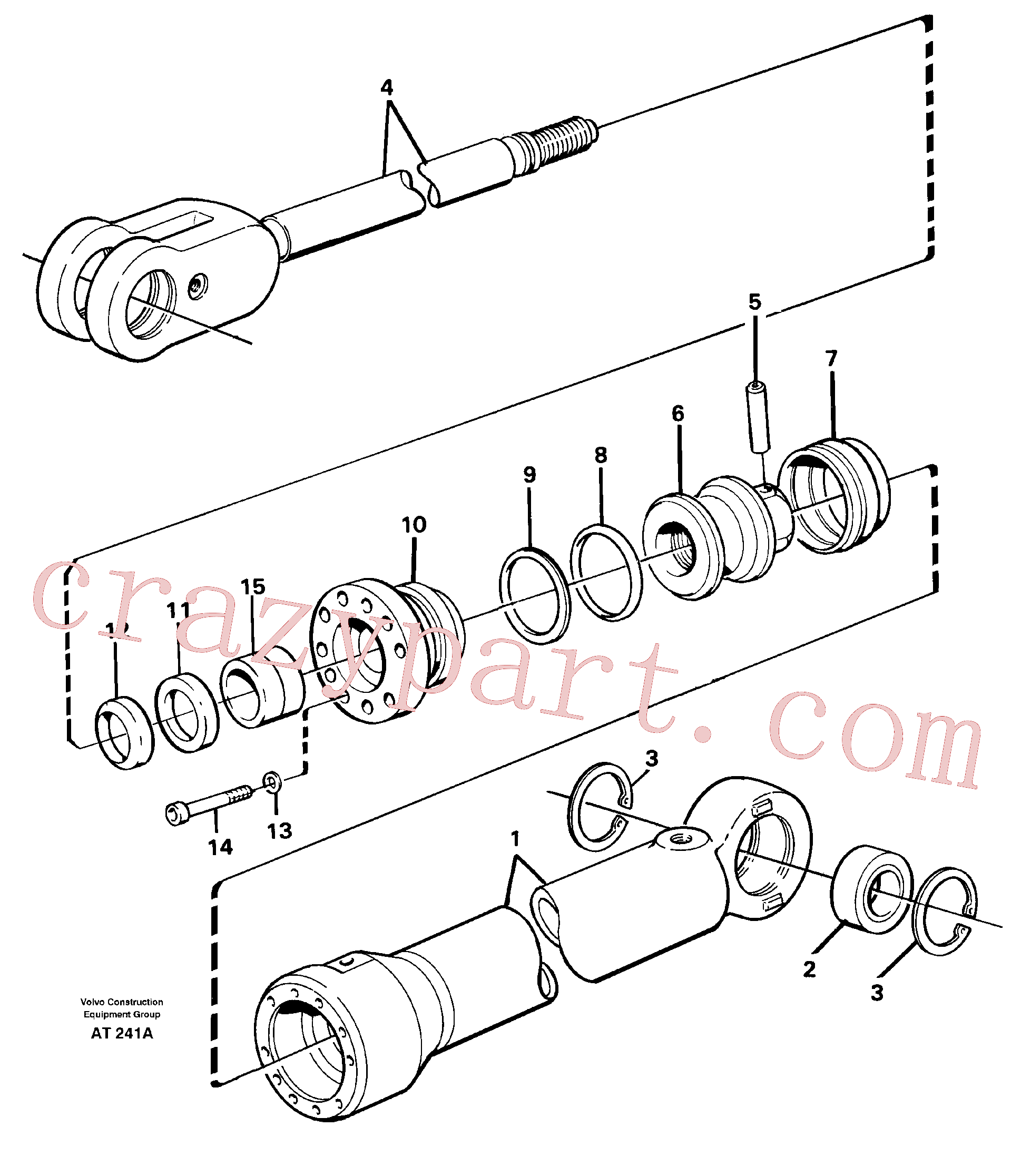 CH18340 for Volvo Hydraulic cylinder(AT241A assembly)